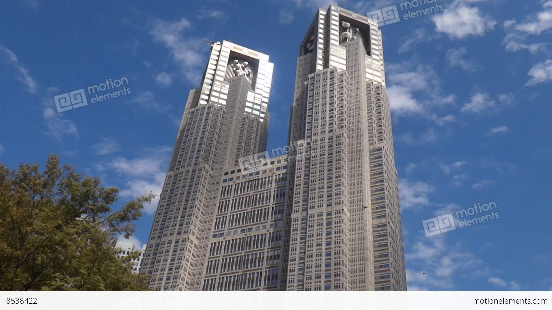 Tokyo Metropolitan Government Building, Nishi-Shinjuku, Tokyo Stock video foo...