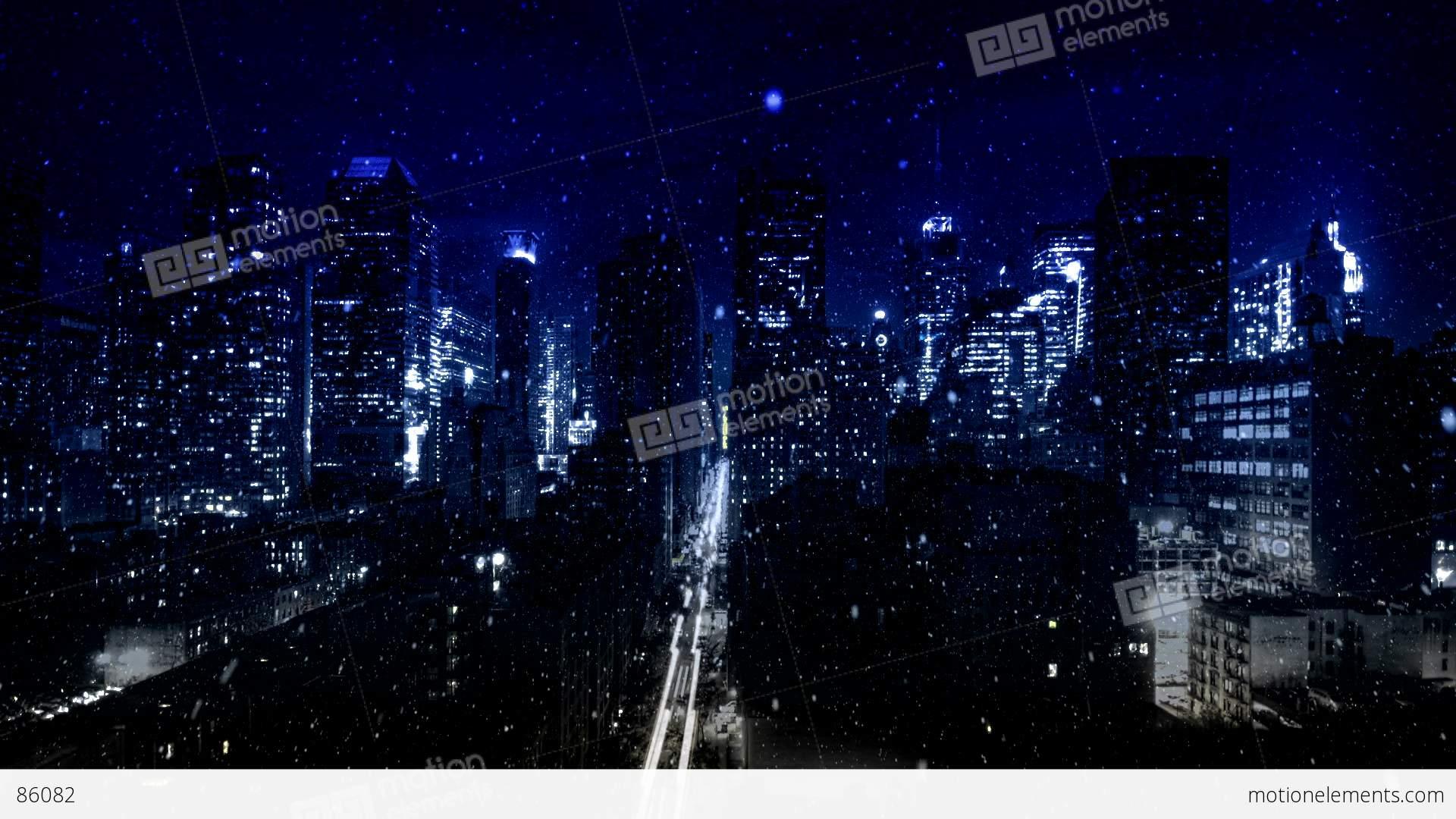 hd snowy city at night pjpeg cg������� 86082
