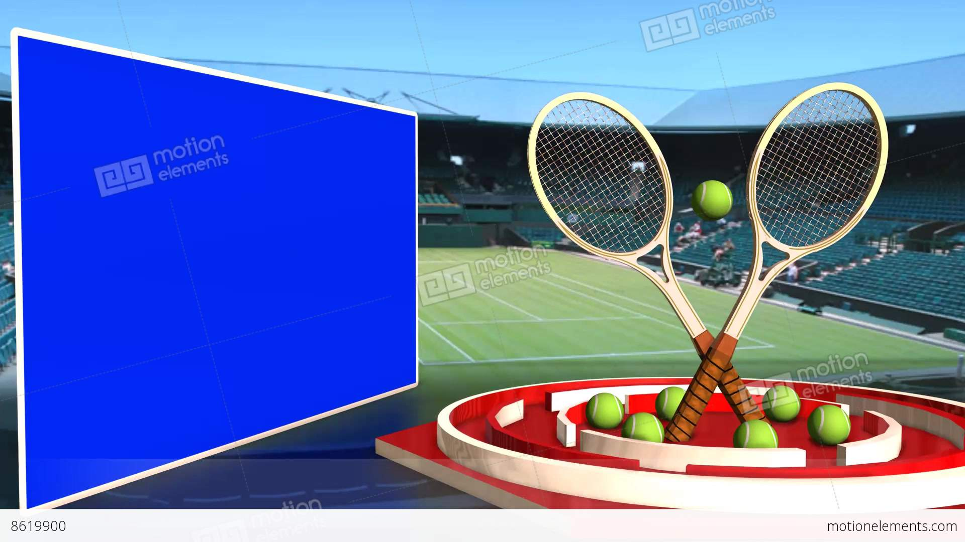 Tennis News Update Television Broadcast Sports Program White Line