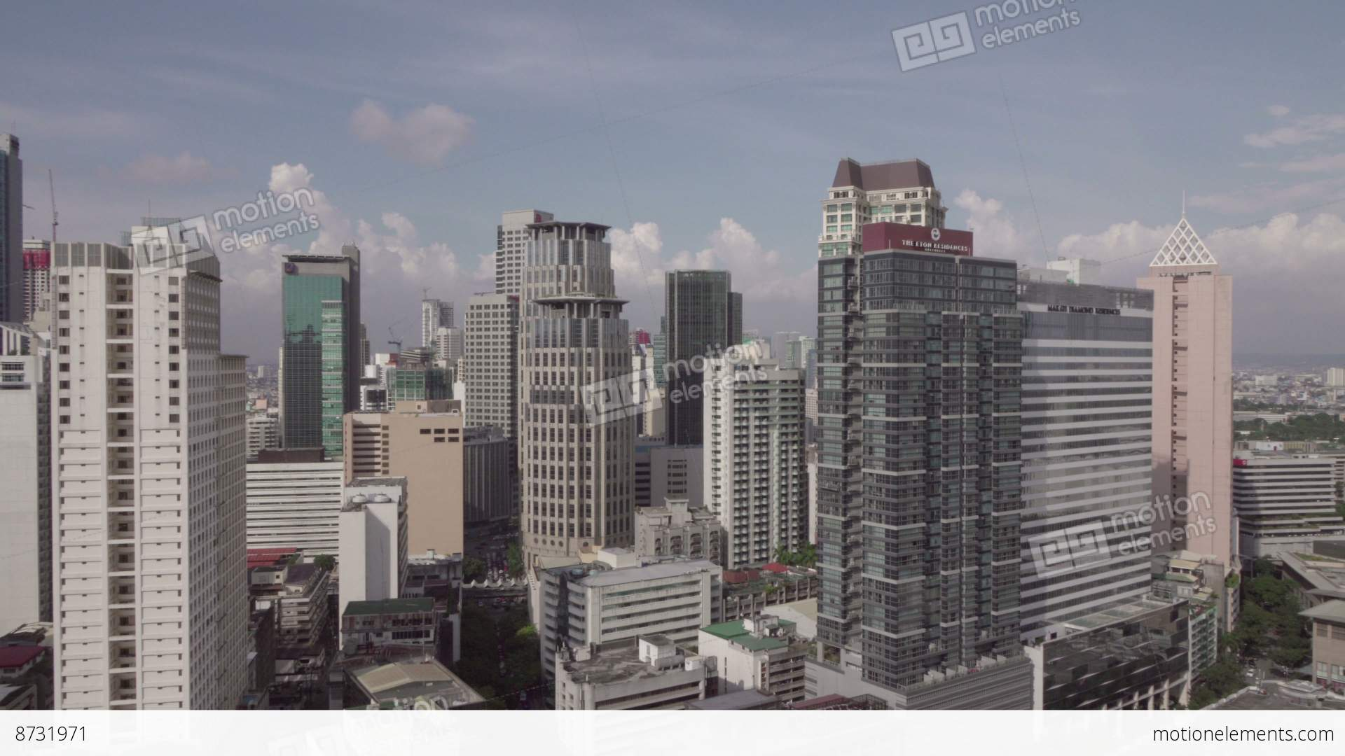 Makati skyline on a sunny daymetro manila philippines stock metro manila philippines stock video footage sciox Image collections
