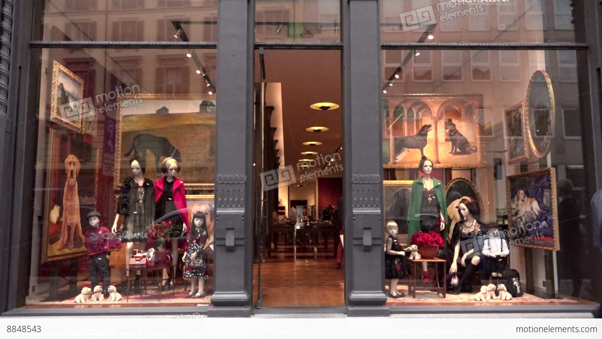 dd659e5879 Dolce Gabbana Shop Store Fashion Shopping Milan Milano... Stock Video  Footage