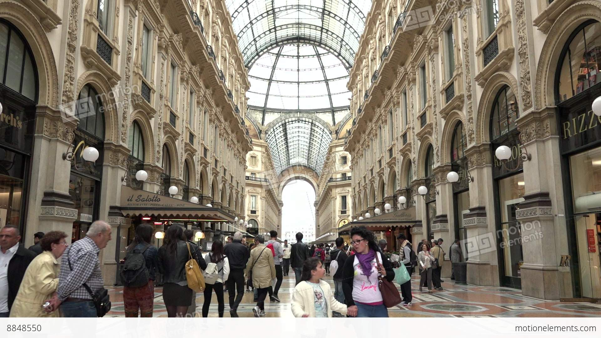 People Tourists Shopping Galleria Vittorio Emanuele Shops Stores