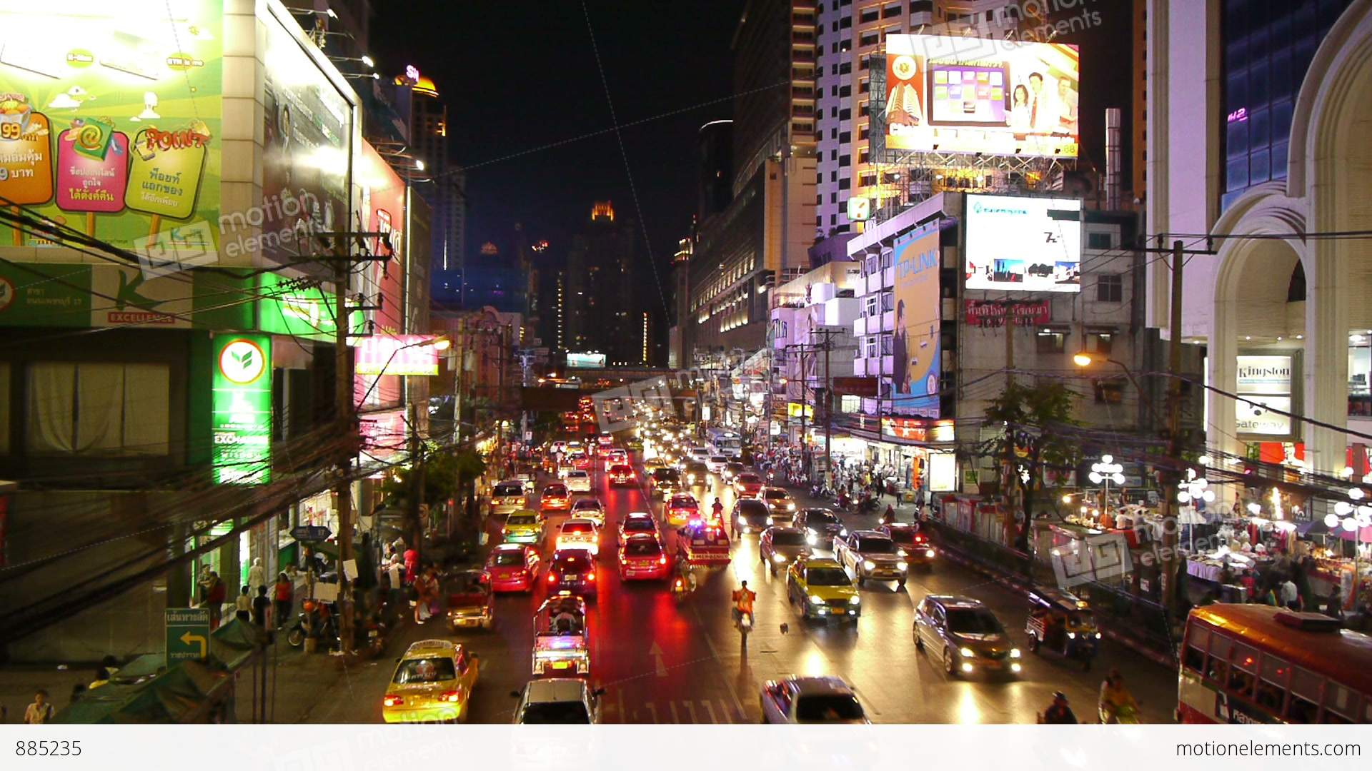 busy street scene in bangkok  thailand stock video footage Motion Clip Making It Rain Motion Picture Money