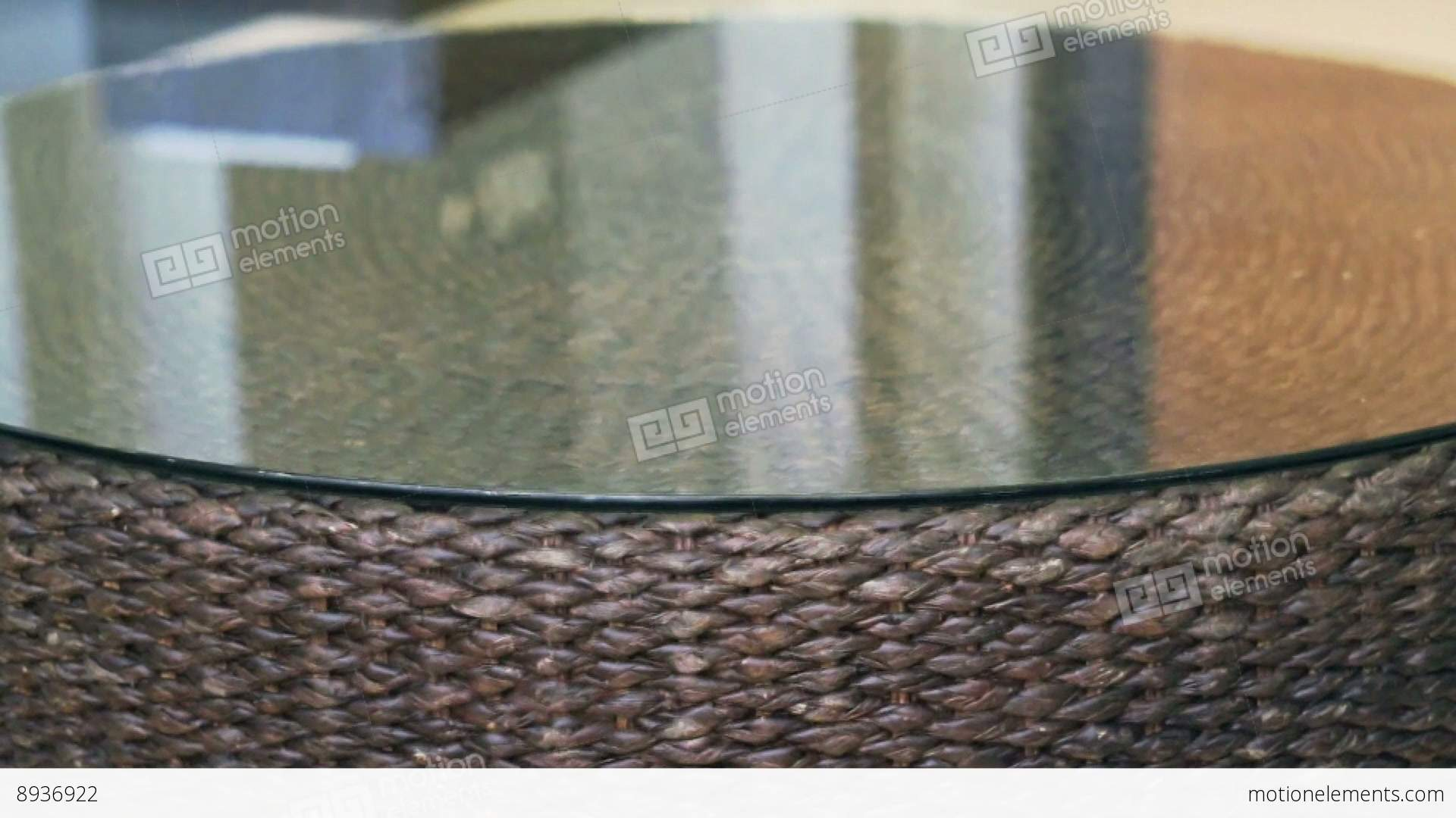 Glass table texture - Close Up Of Rattan Texture Horizontal Tracking Table With Stock Video Footage