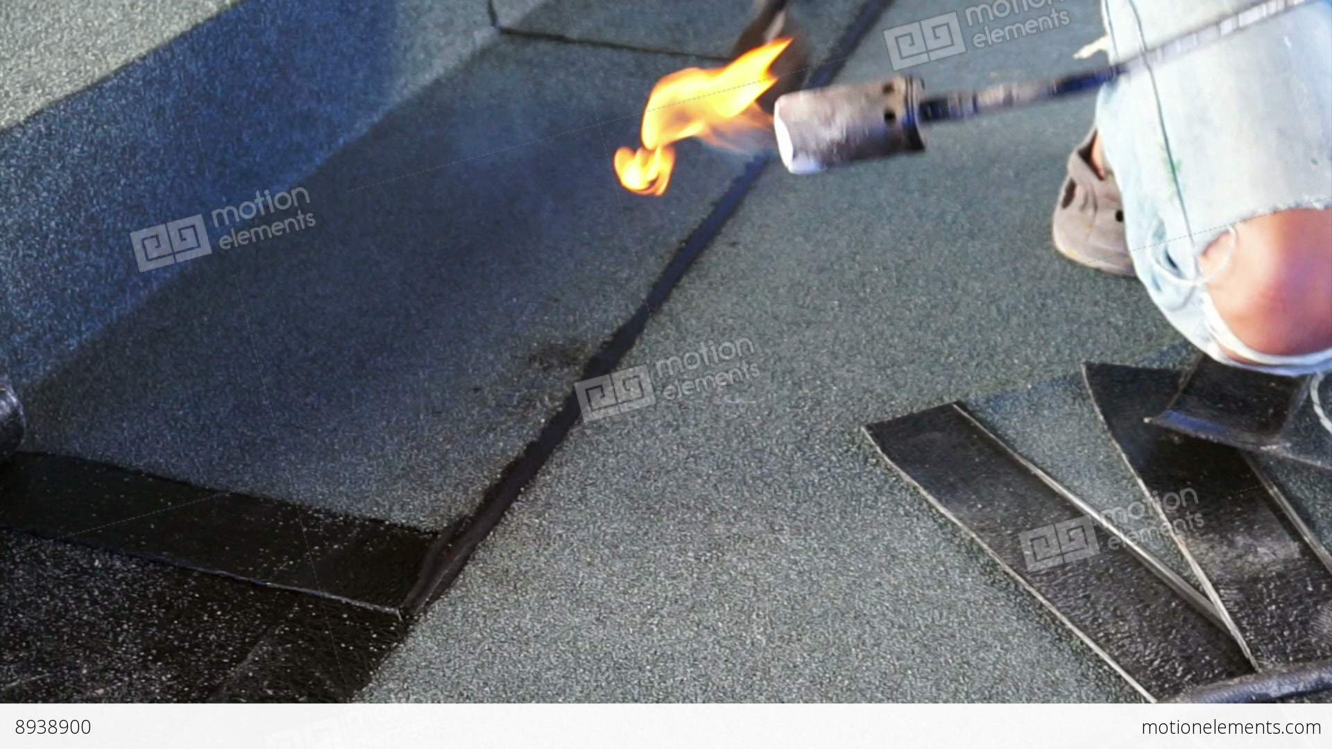 Marvelous Asphalt Roof Coating With Fire, Bitumen Water Protection... Stock Video  Footage