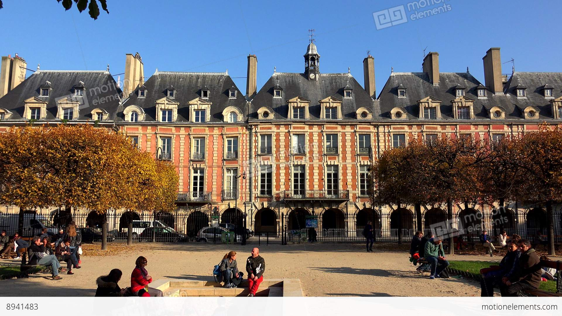 Place des vosges in paris france 4k stock video footage - Comptoir des cotonniers place des vosges ...