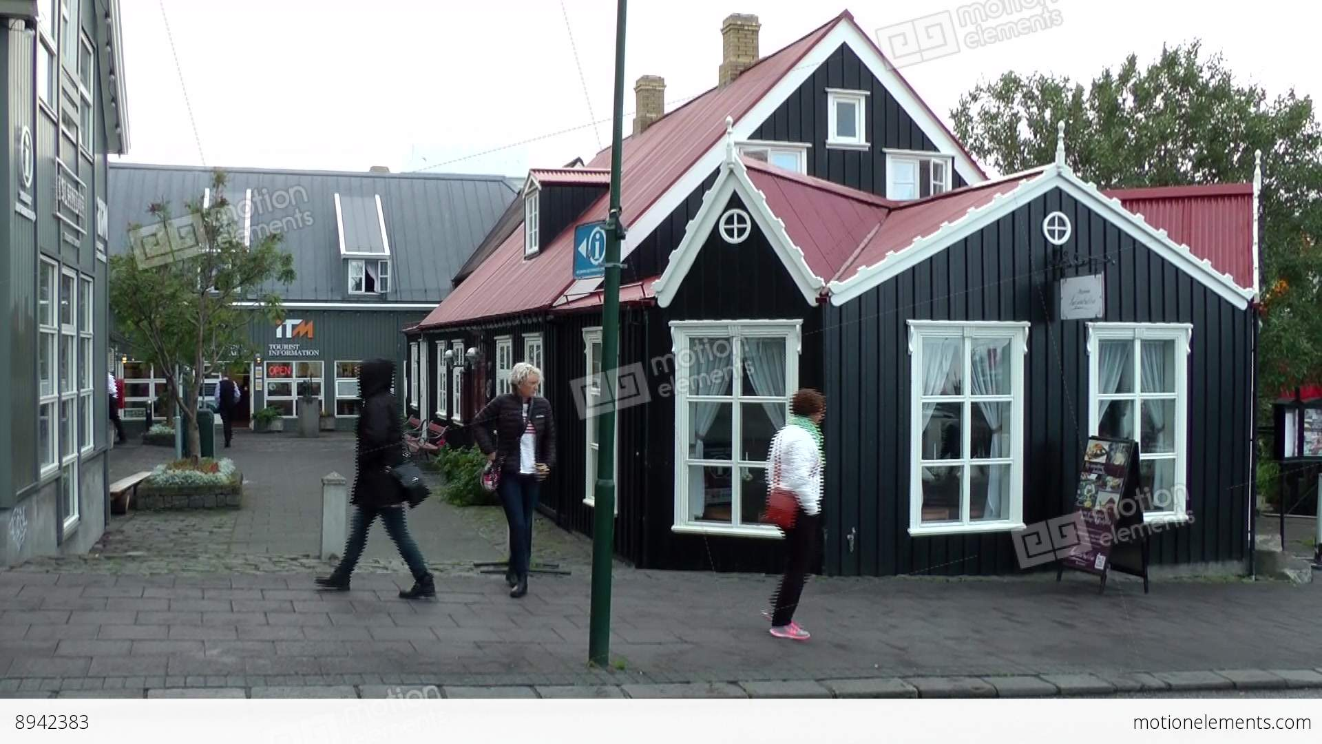 iceland reykjavik 073 typical scandinavian wooden houses in city iceland reykjavik 073 typical scandinavian wooden houses stock video footage