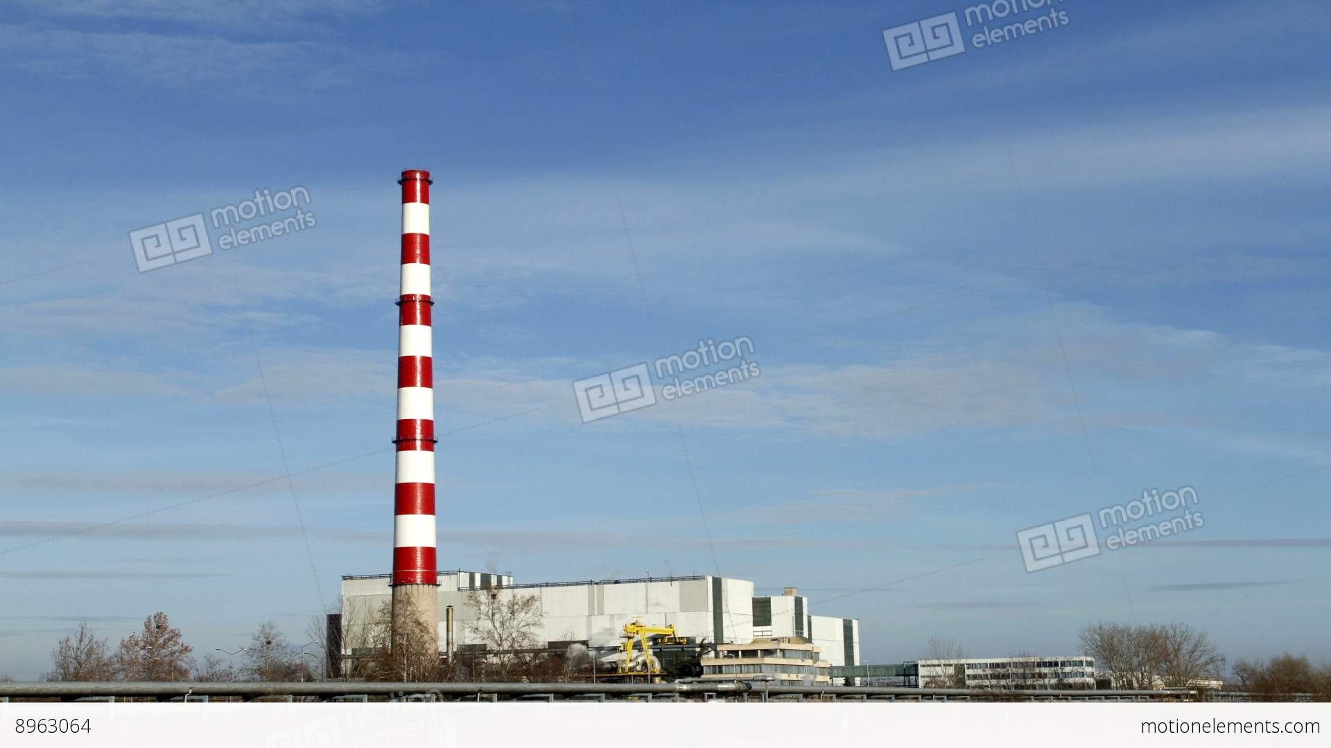 Chimney Thermal Power Plants Stock video footage