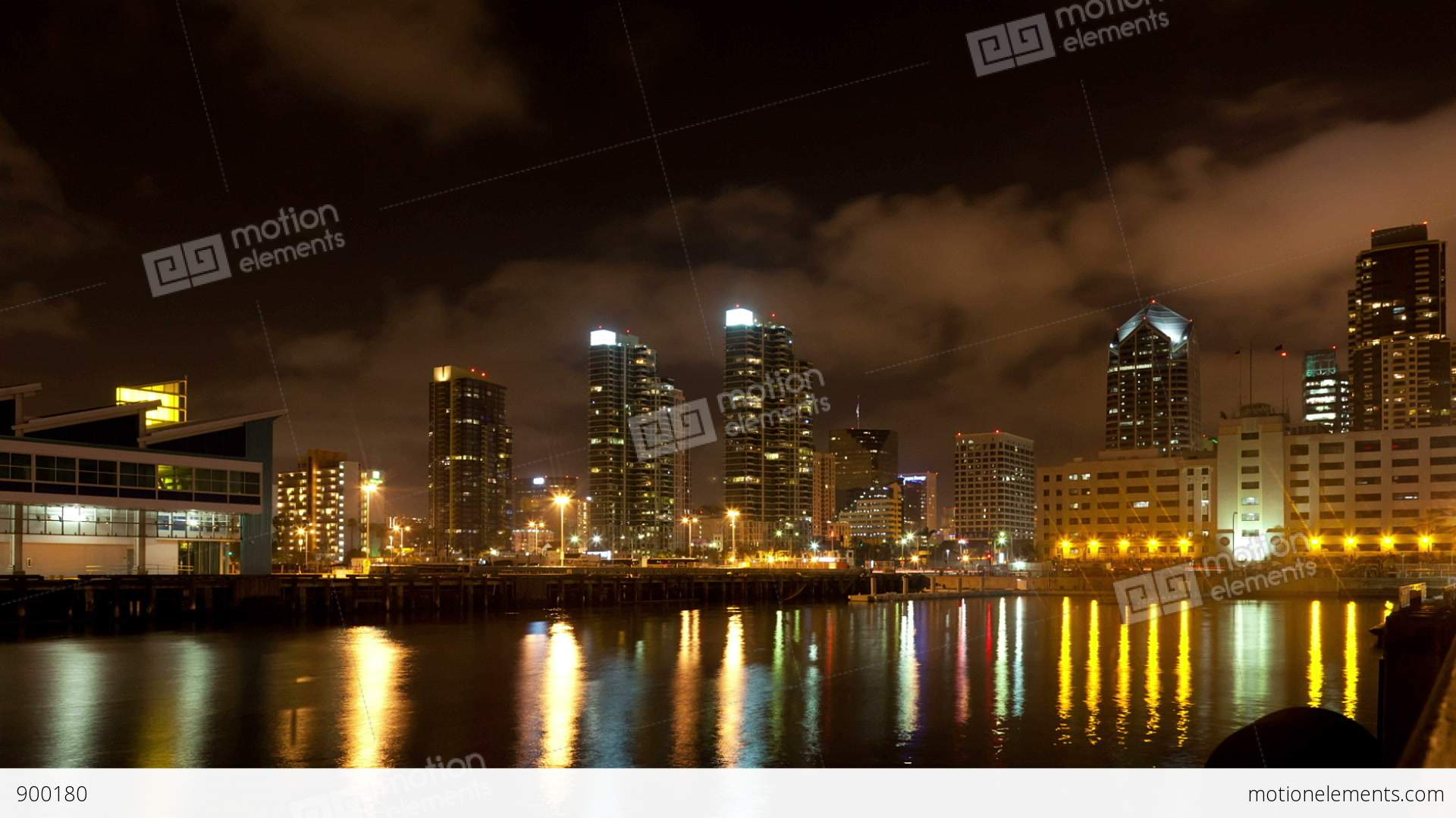 night san diego city time lapse with buildings and traffic. Black Bedroom Furniture Sets. Home Design Ideas