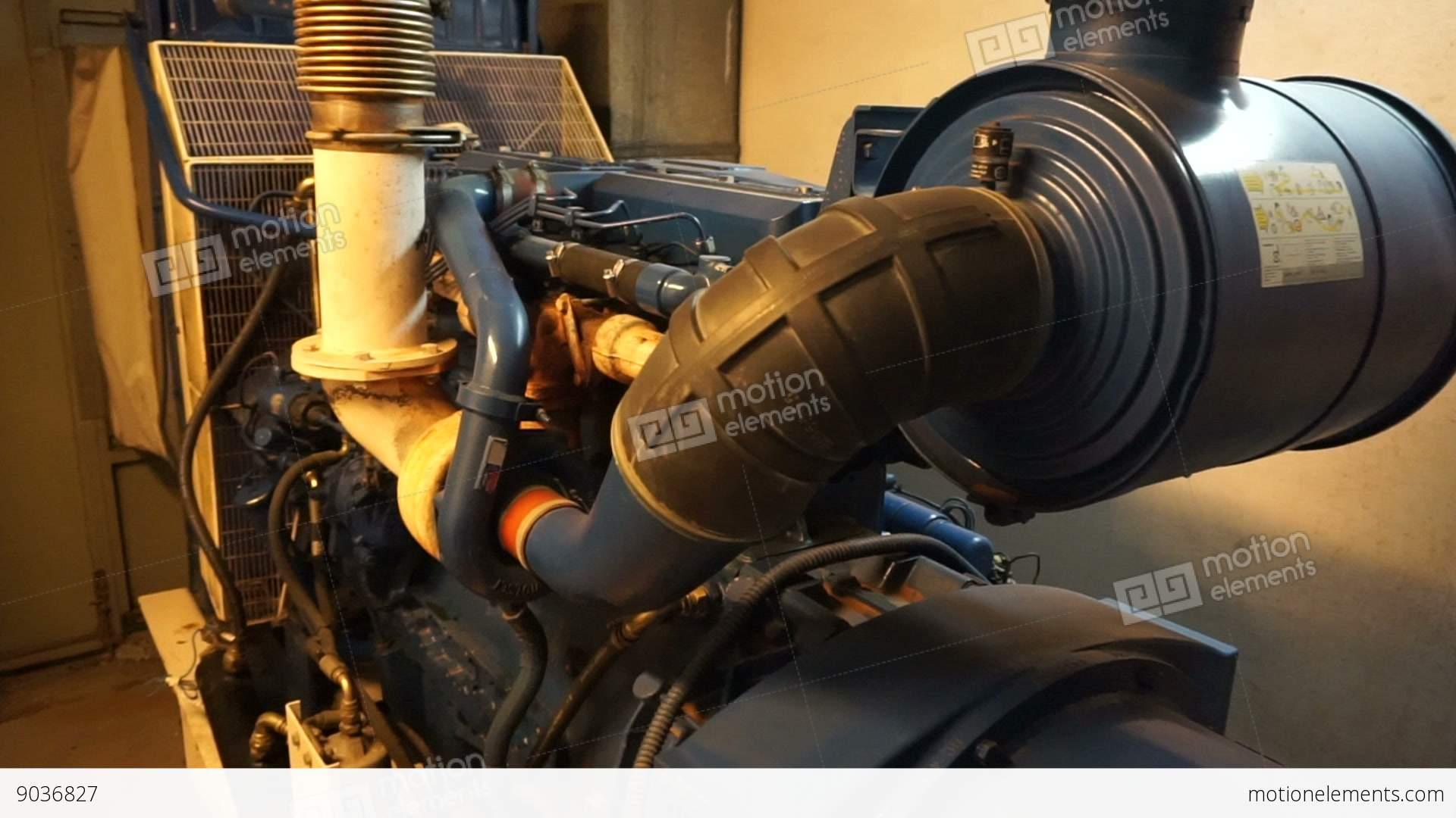 Electric Power Diesel Generator In fice Building Stock video
