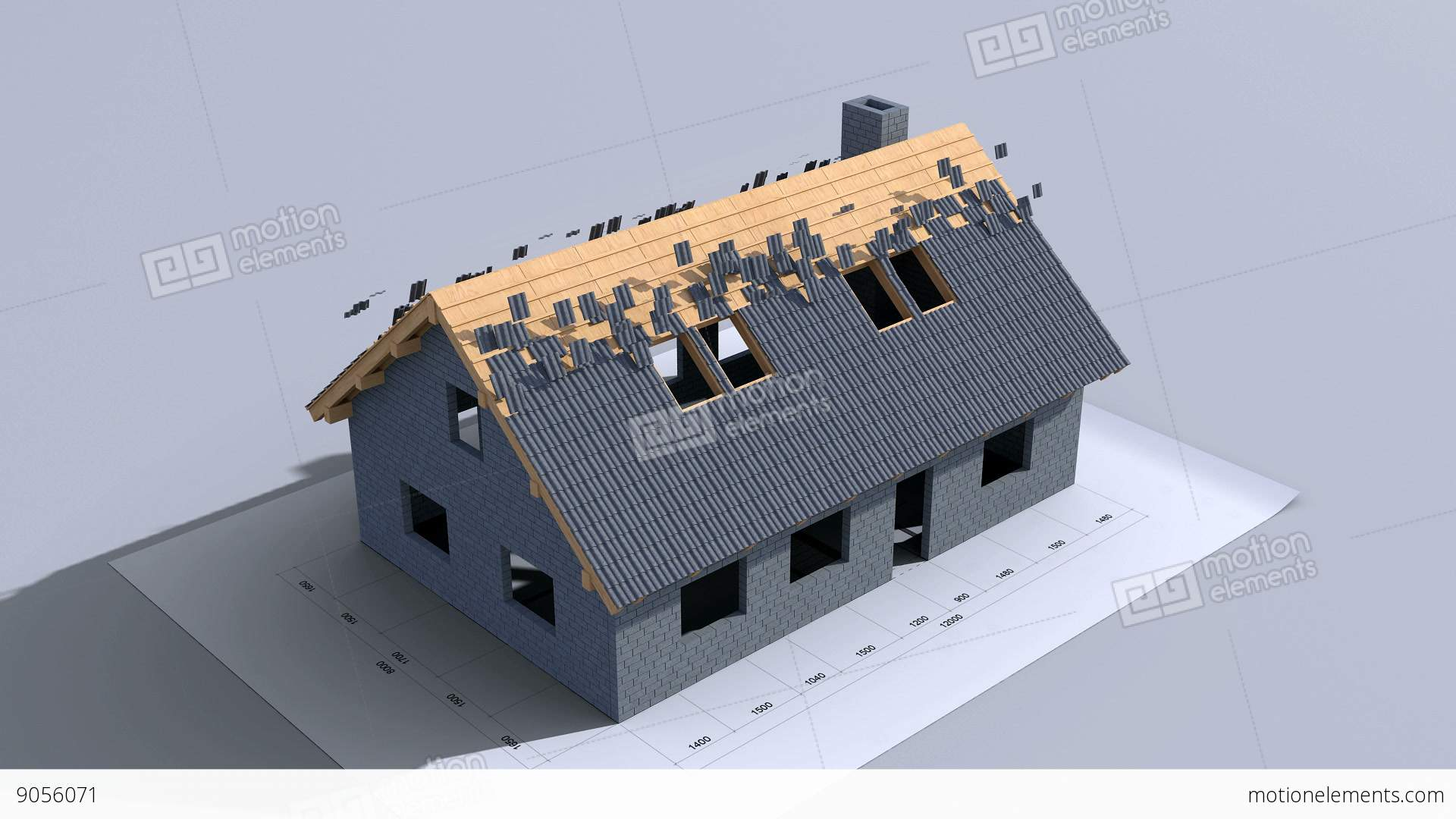 Home Construction Time Lapse 3d Animation Full Hd Stock Video Footage