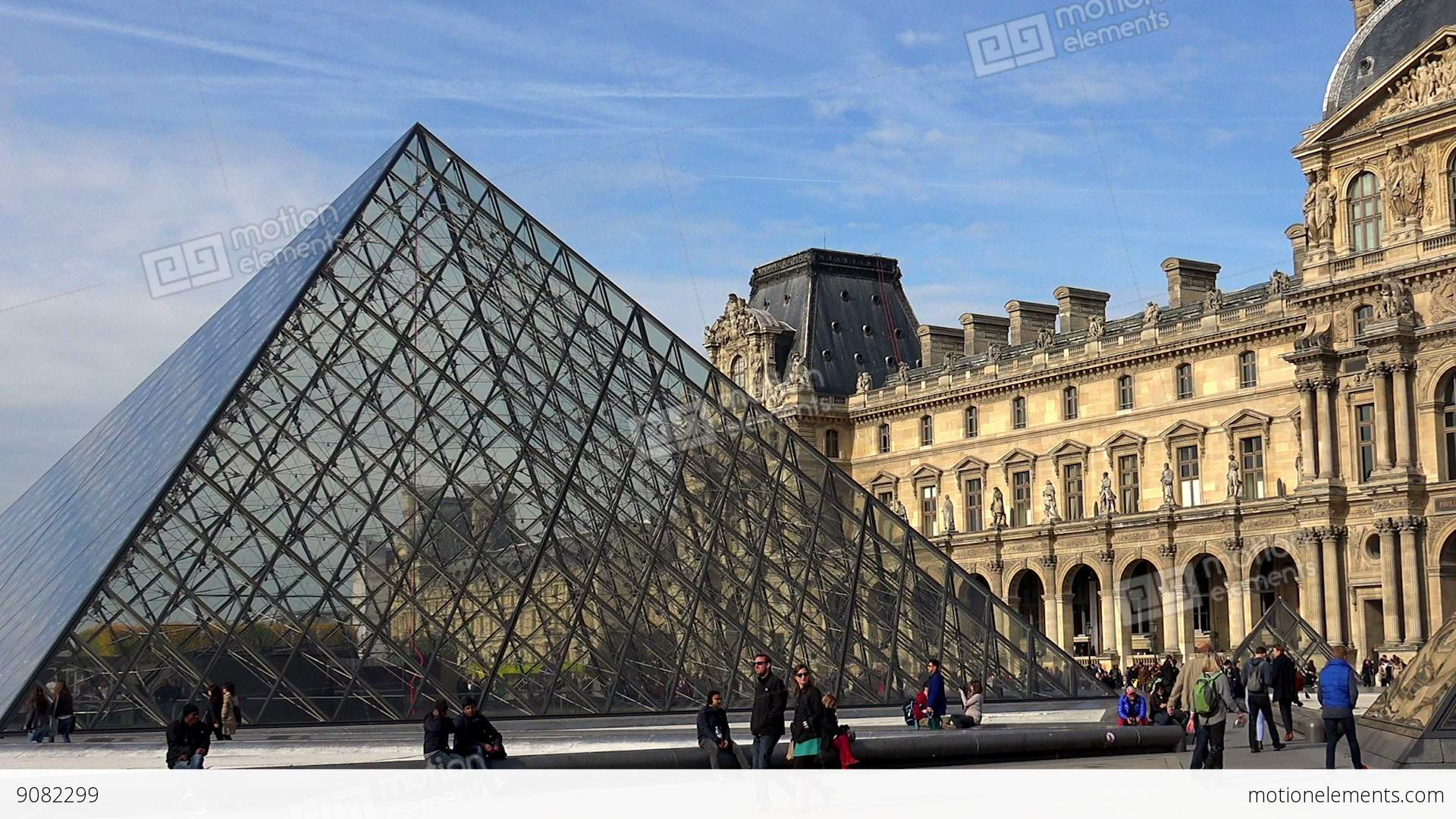 louvre the famous art museum in paris pyramid france