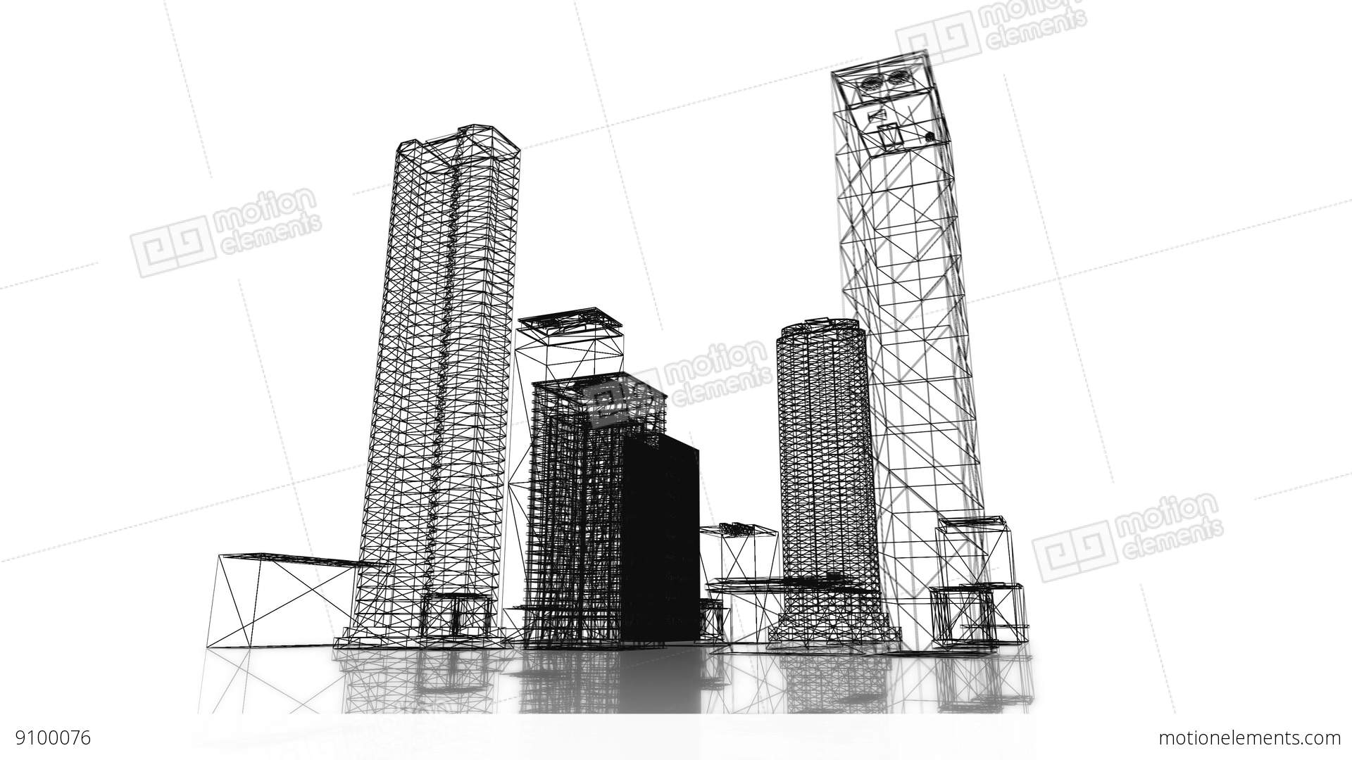Loopable video 3840x2160 uhd blueprint of the business district of loopable video 3840x2160 uhd blueprint of the business stock video footage malvernweather Image collections