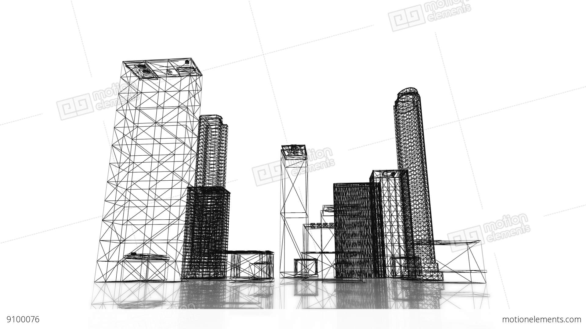 Loopable video 3840x2160 uhd blueprint of the business district of loopable video 3840x2160 uhd blueprint of the business stock video footage malvernweather Gallery