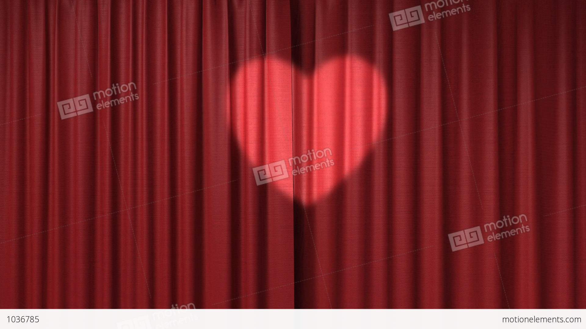 Red curtain spotlight - Red Curtain With The Heart Shaped Spotlight Stock Video Footage