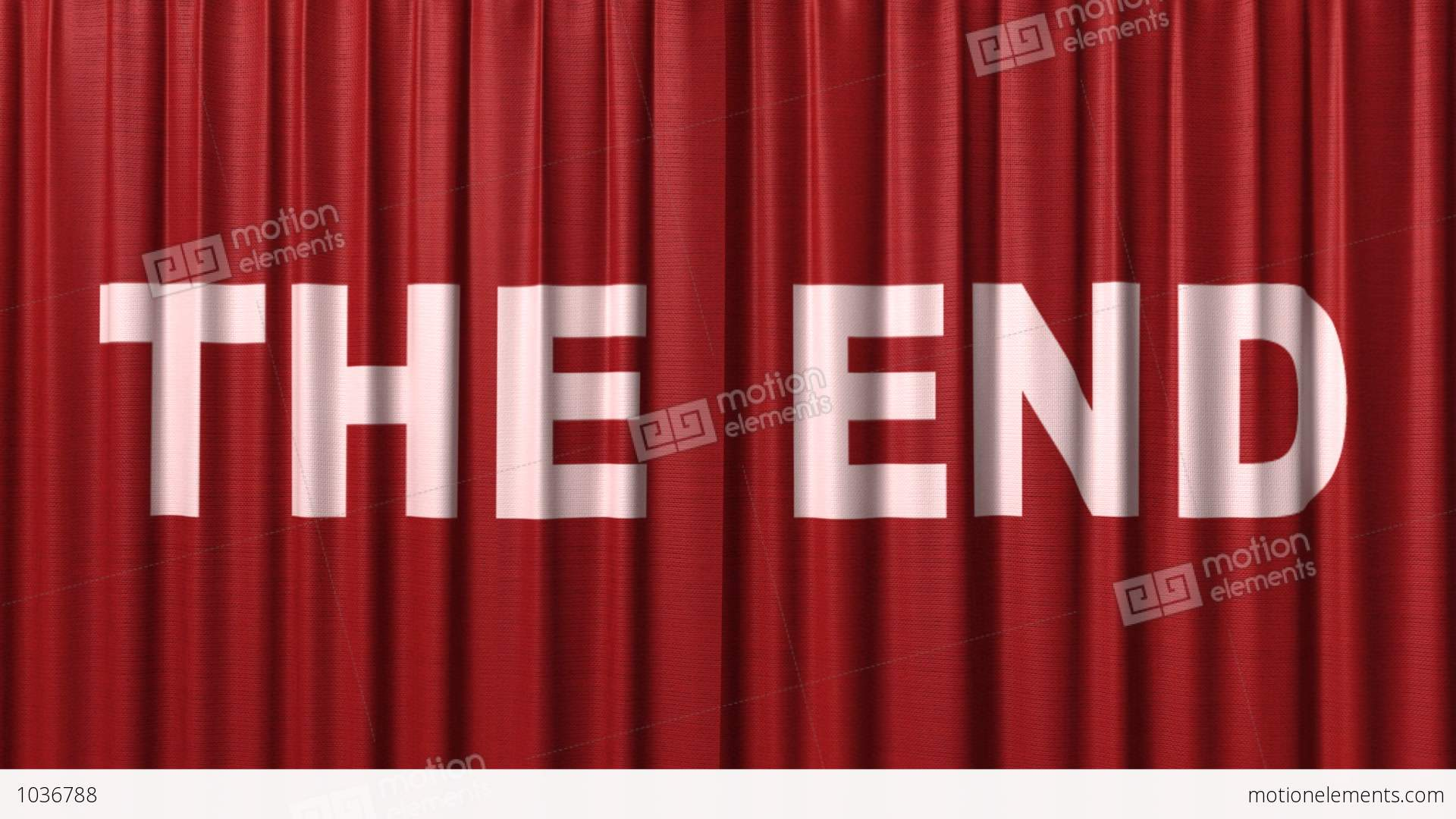 Closing Red Curtain With Title Quot The End Quot Stock Animation