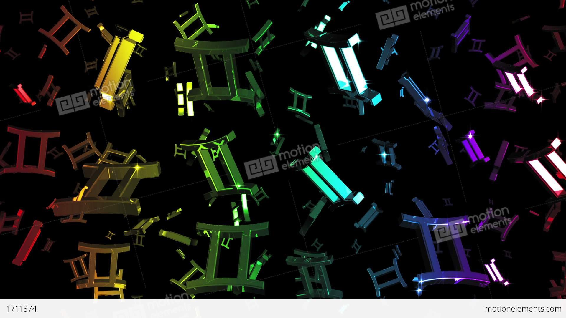 Looping rainbow zodiac gemini symbols falling stock animation looping rainbow zodiac gemini symbols falling stock video footage buycottarizona