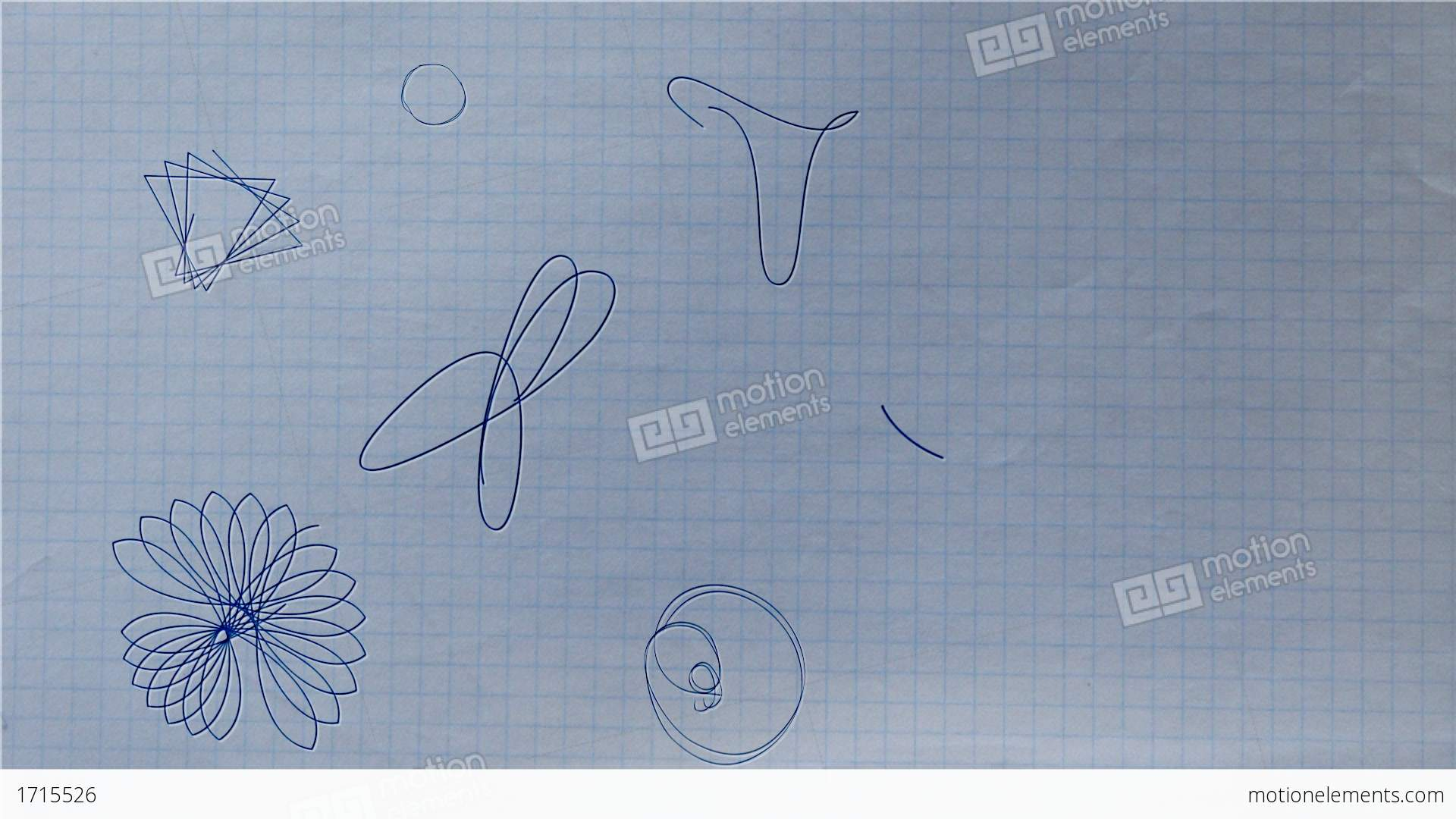Ballpoint Pen Rosette Shapes Drawing On Paper Stock Animation ...