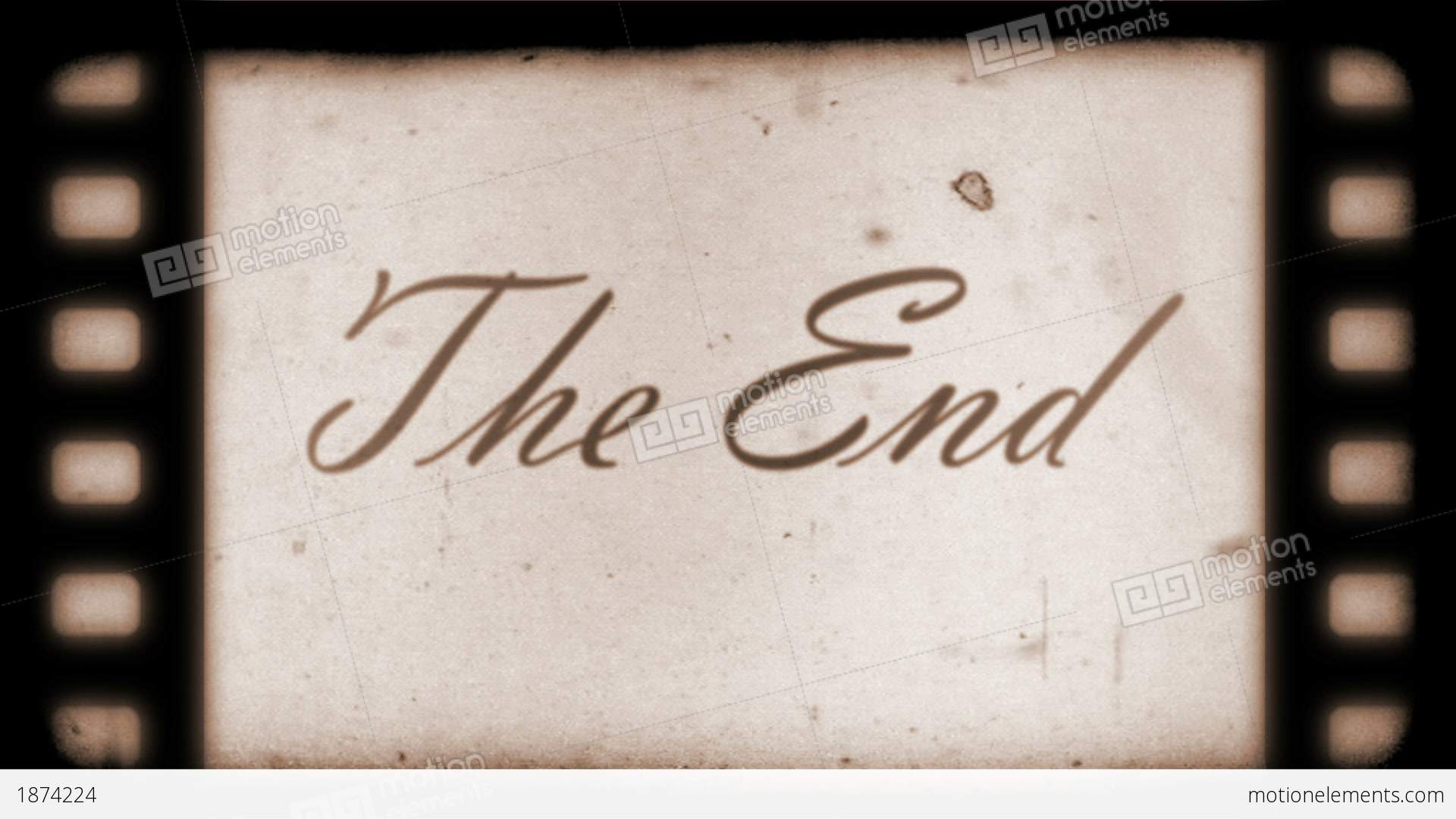 The End Vintage Filmstrip Stock Animation 1874224