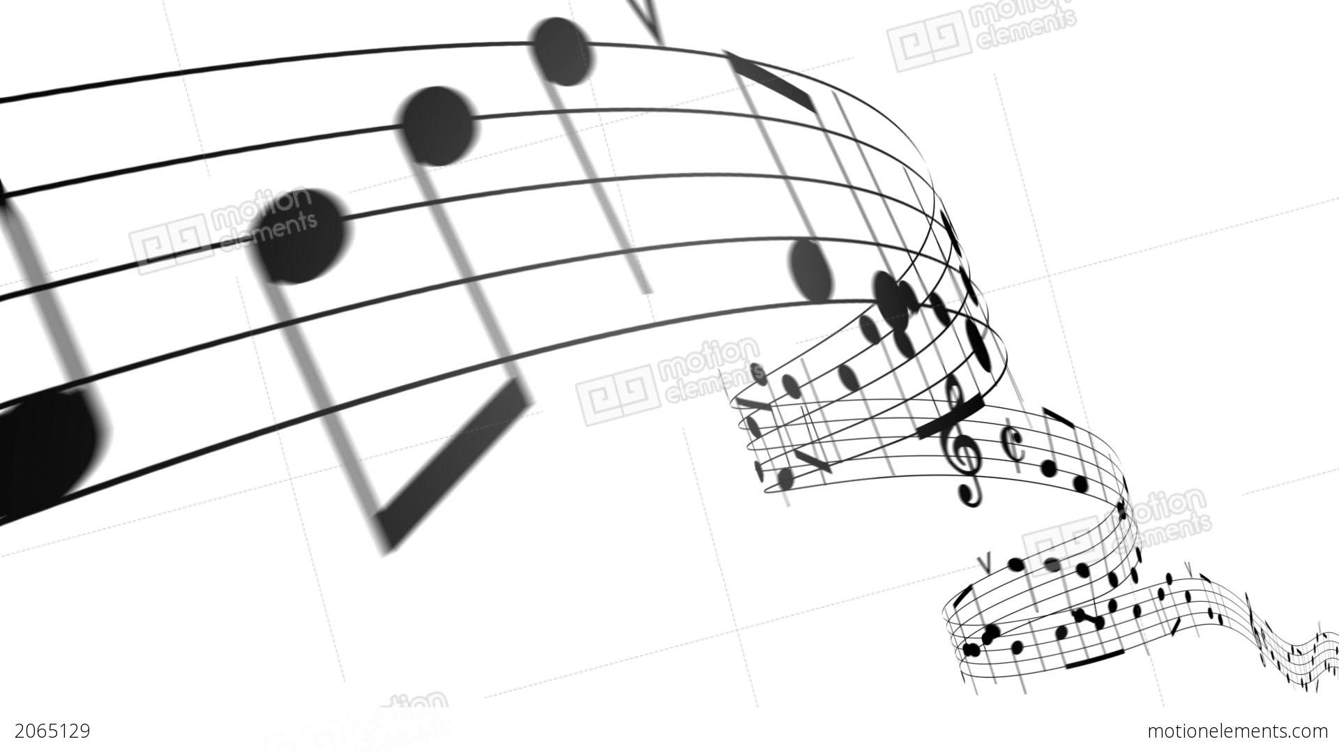 Music Notes In 3d. HD. Loopable Stock Animation | Royalty-Free ...