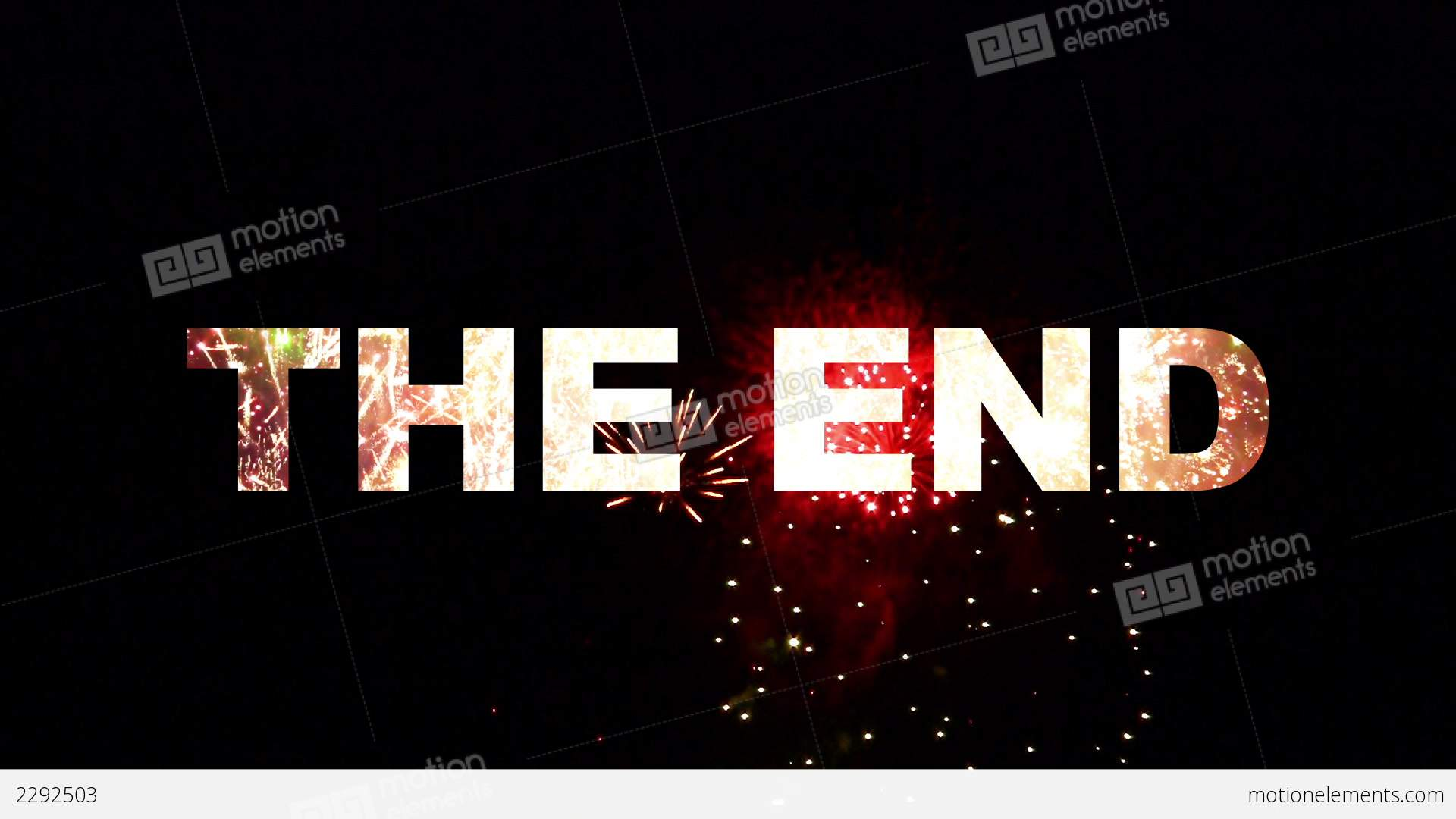 The End Fireworks 02 Stock Animation 2292503