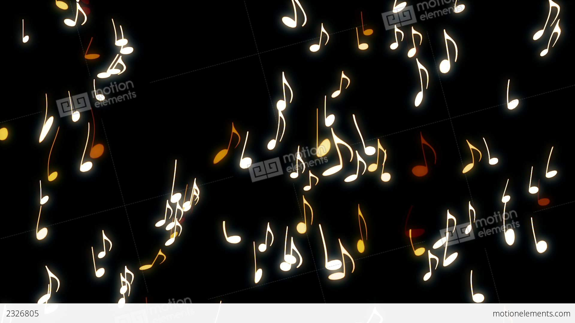 Dancing Musical Notes Stock Video Footage
