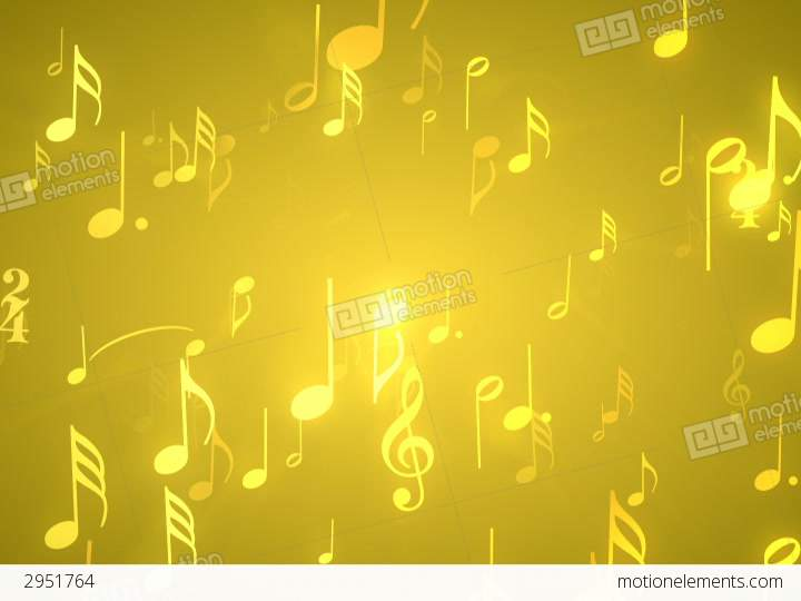 Gold Music Notes On Black Background – Daily Motivational Quotes