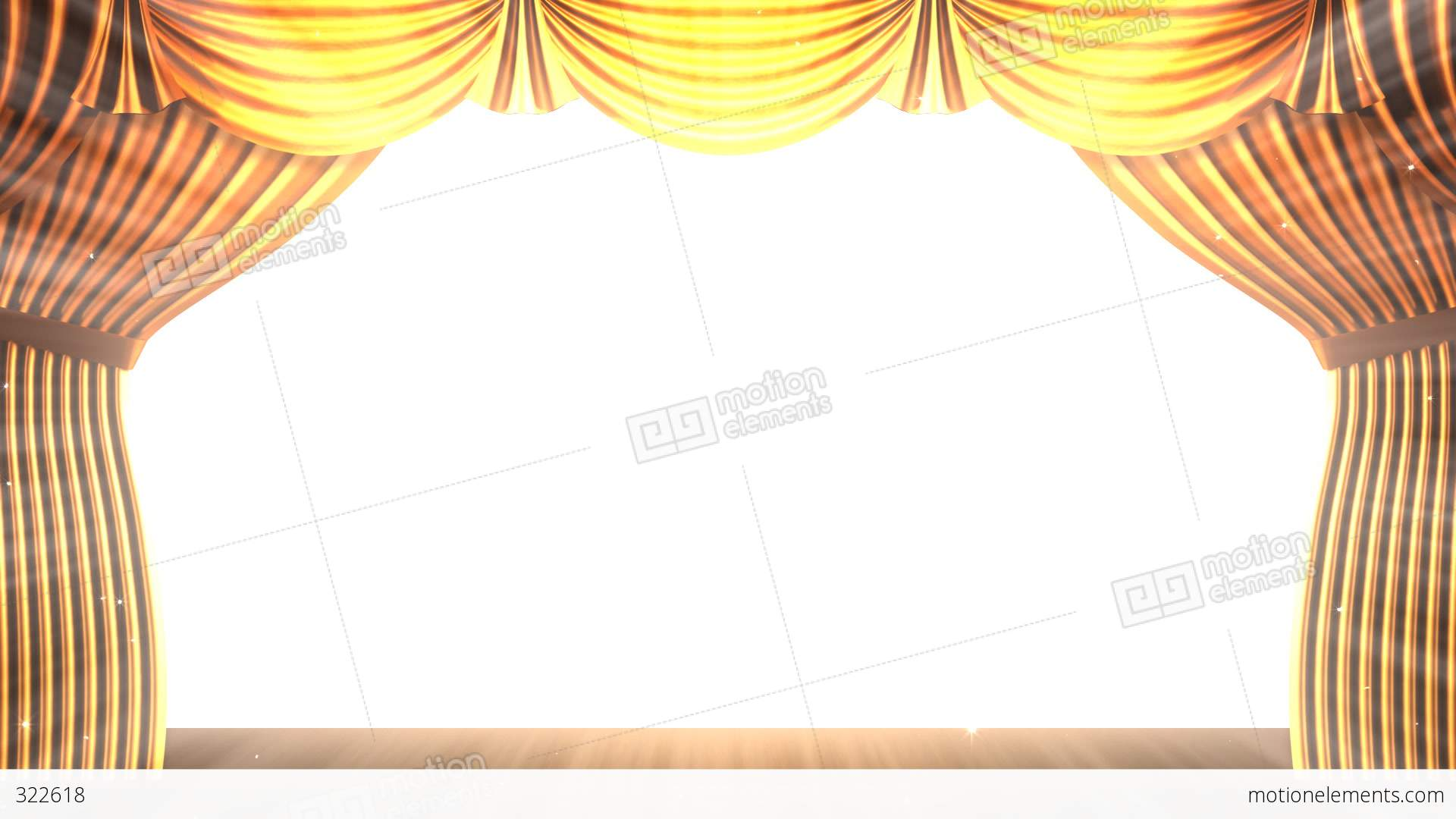 Gold stage curtain - Stage Curtain 2 Fg2 Stock Video Footage