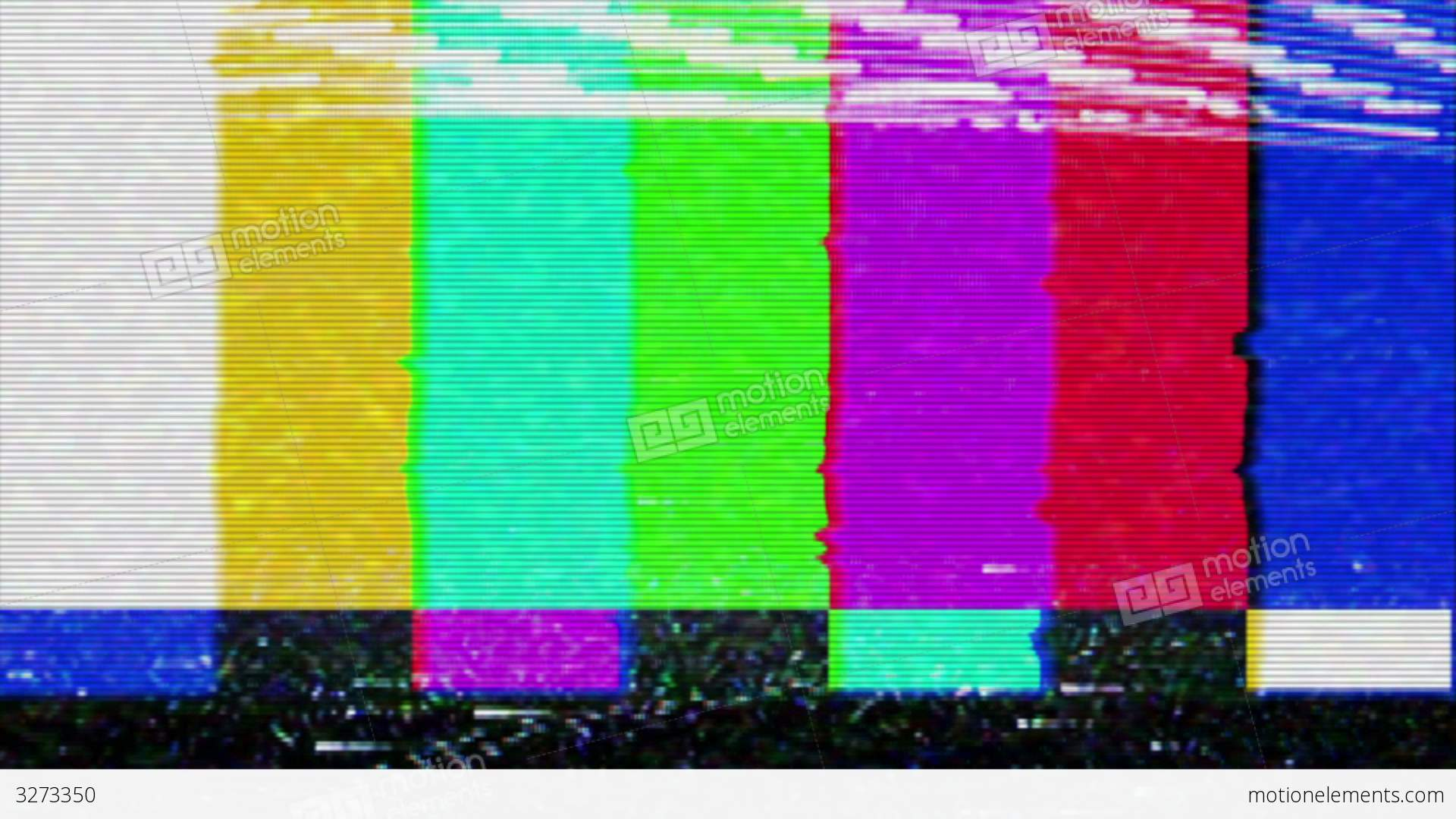 Industrial House Color Bars Signal Interference Stock Video Footage 3273350