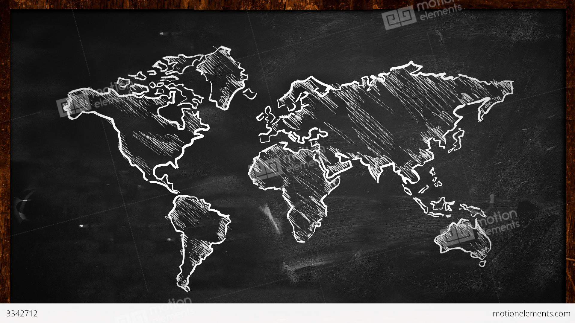 world chalk sketch on blackboard looping animation stock clip art earth mover clip art earth mover