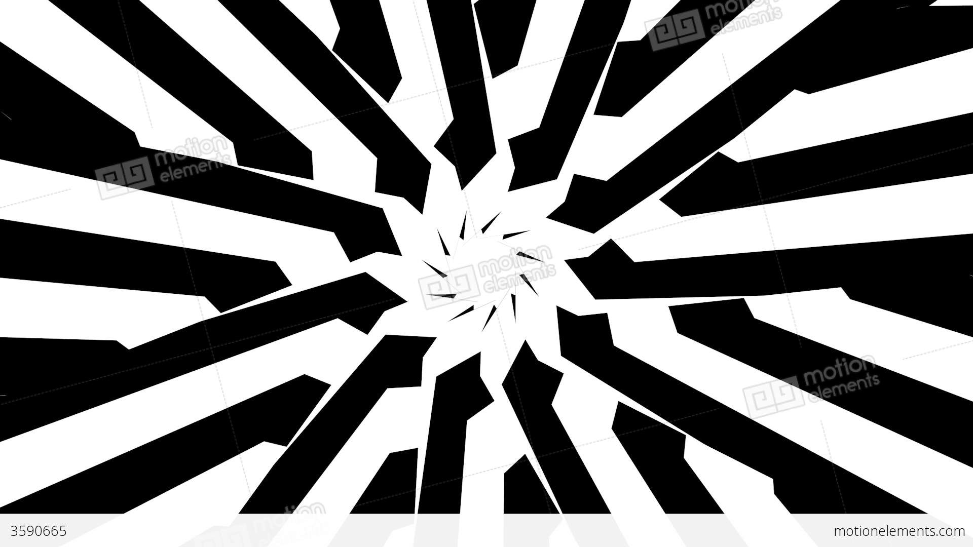 Black and white star shape twisting and rotating stock for Black and white shapes