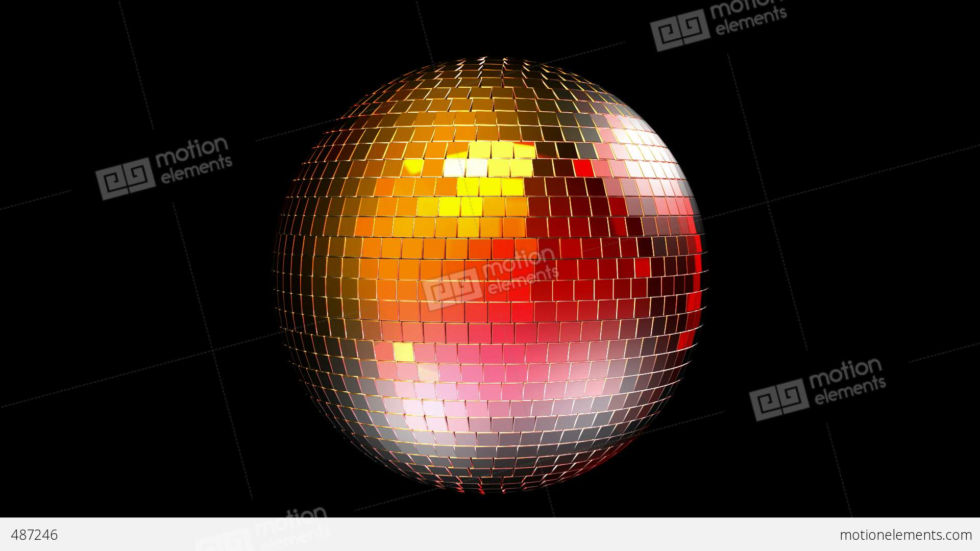 rotating disco ball with reflected lights  seamless loop