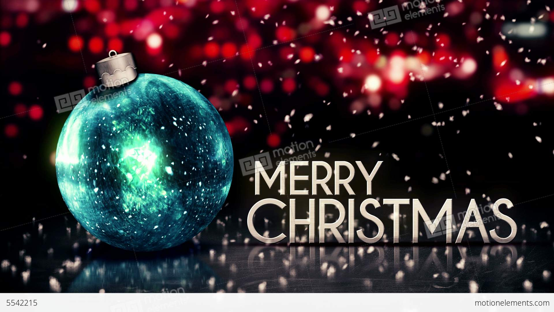 Blue Silver Merry Christmas Bokeh Beautiful 3D Red Stock Animation ...