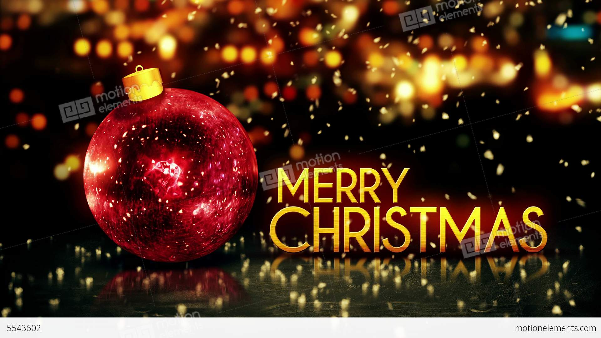 red gold merry christmas bokeh beautiful 3d red ba stock video footage