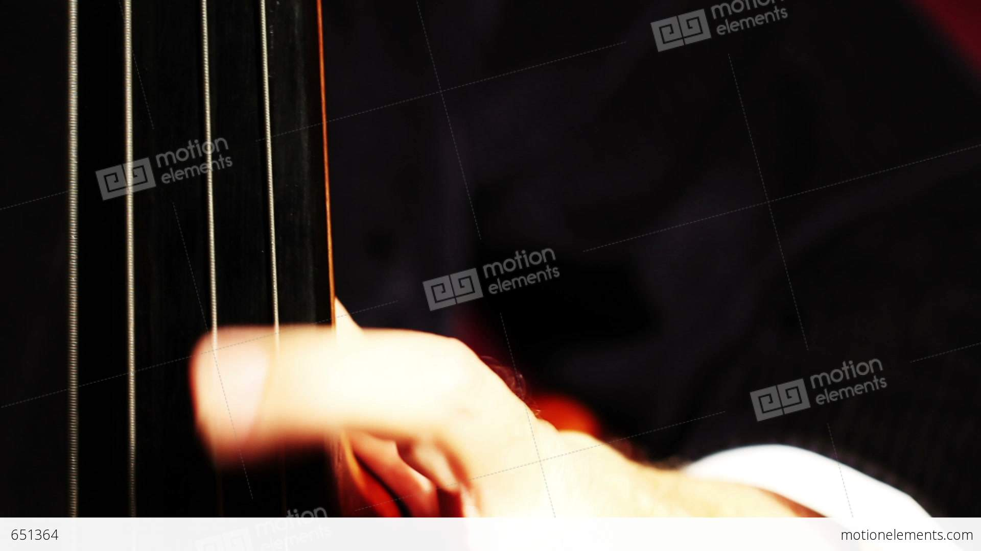 Musician and double bass 08 fingerboard extreme closeup focus musician and double bass 08 fingerboard extreme closeup stock video footage voltagebd Choice Image