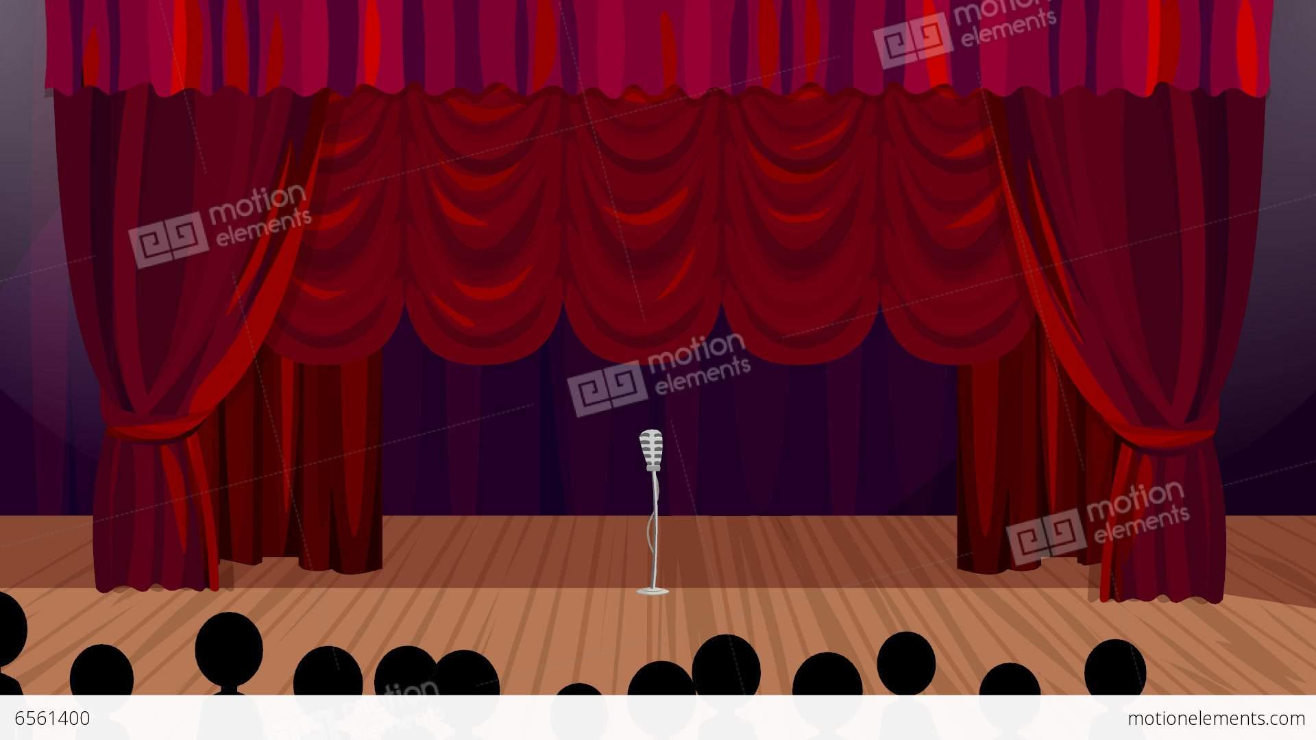 Opening Night On The Cartoon Stage Stock Animation 6561400