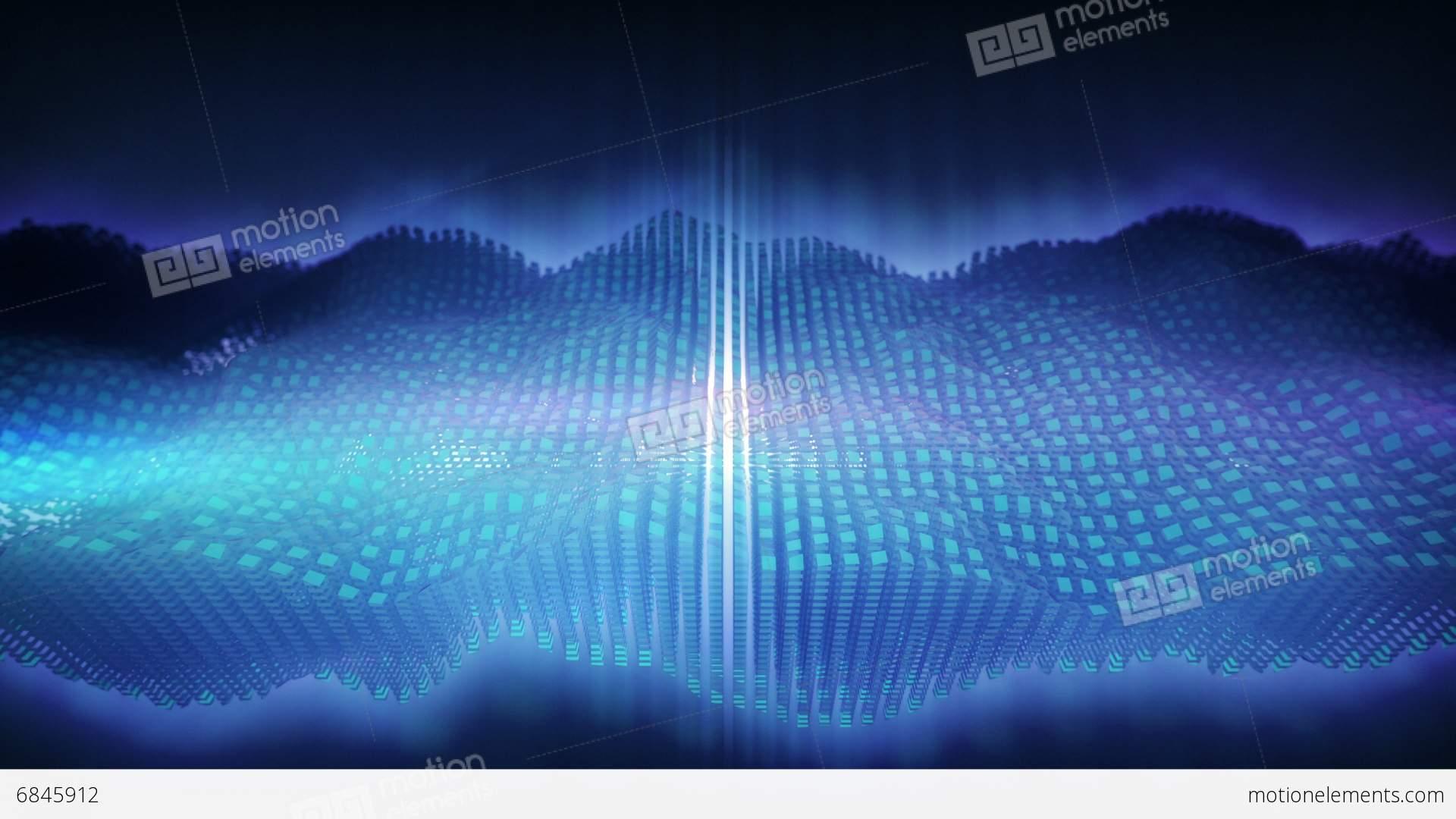 3d Audio Waves Loop Stock Footage Video | Getty Images  |3d Audio Waveform