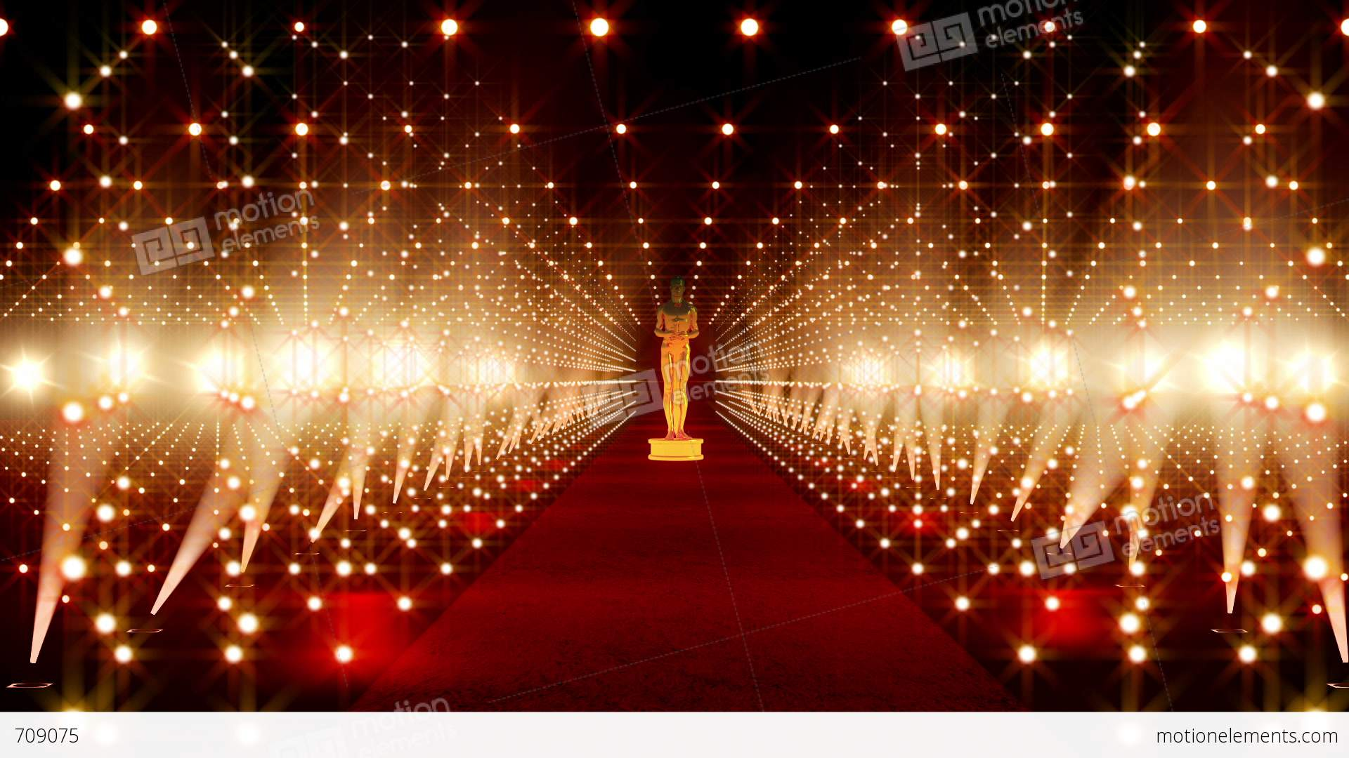 On The Red Carpet 14 Award Stock Animation Royalty Free