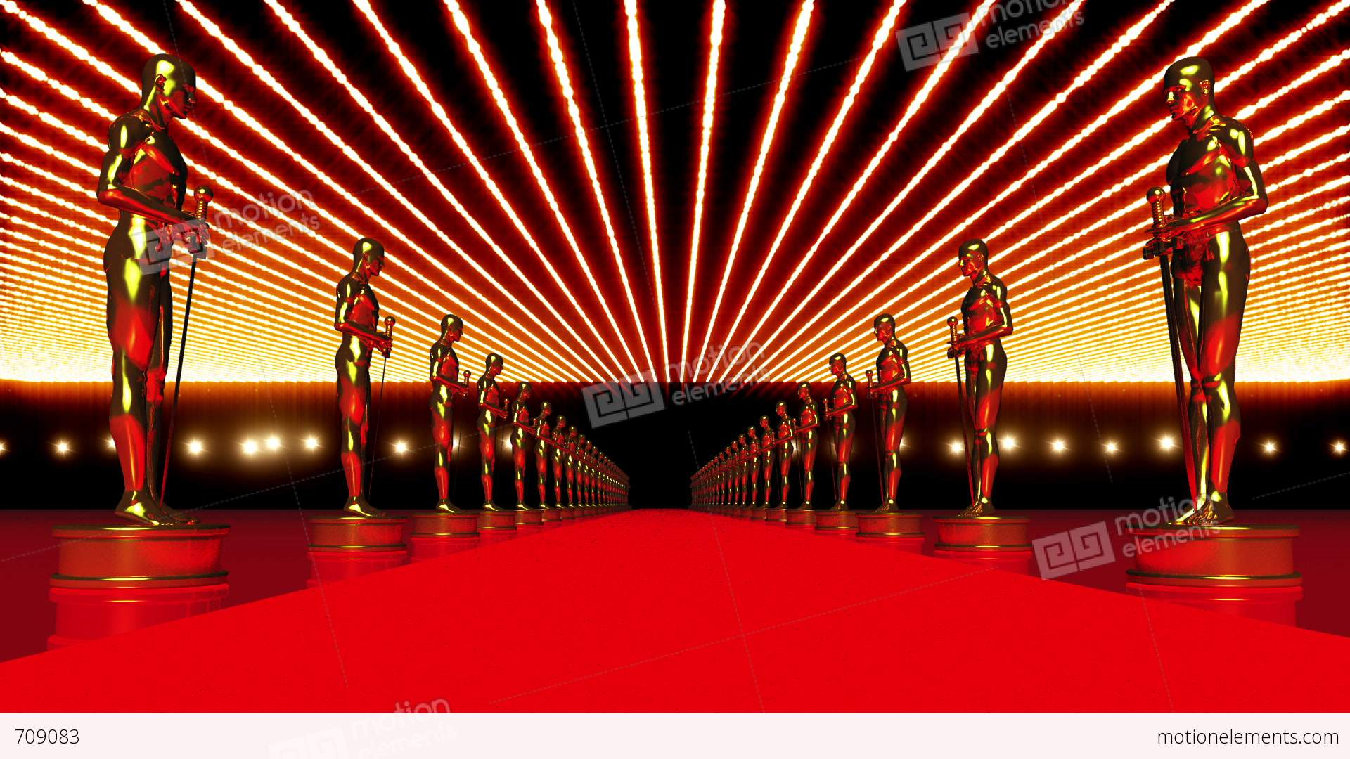 On The Red Carpet 14 Award Stock Animation 709083