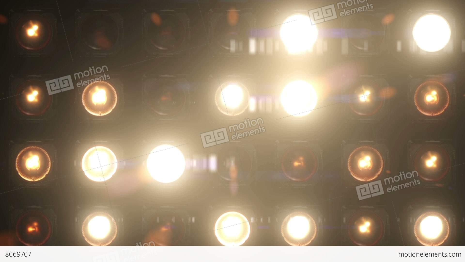 Flashing lights bulb wall of lights vj stage stock for Lamp light blinking on jvc