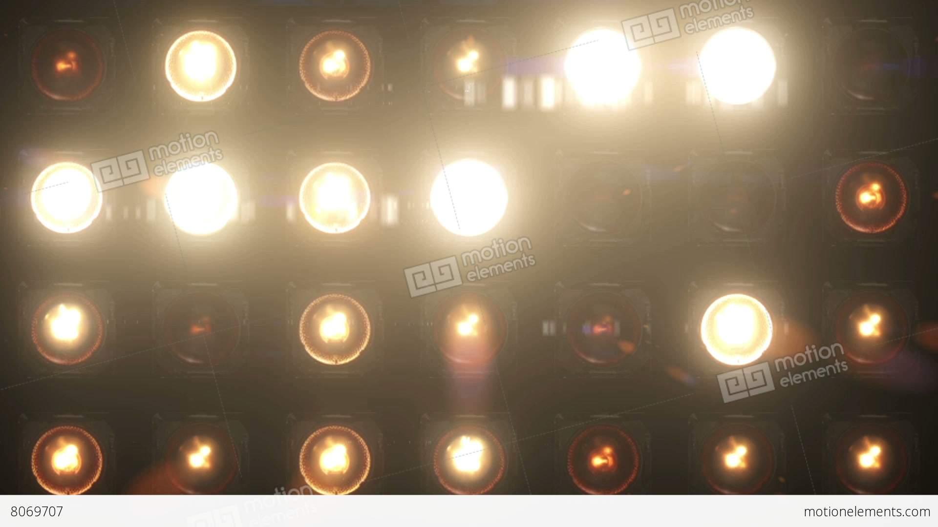 Flashing Lights Bulb Wall Of Lights VJ Stage Stock Animation 8069707