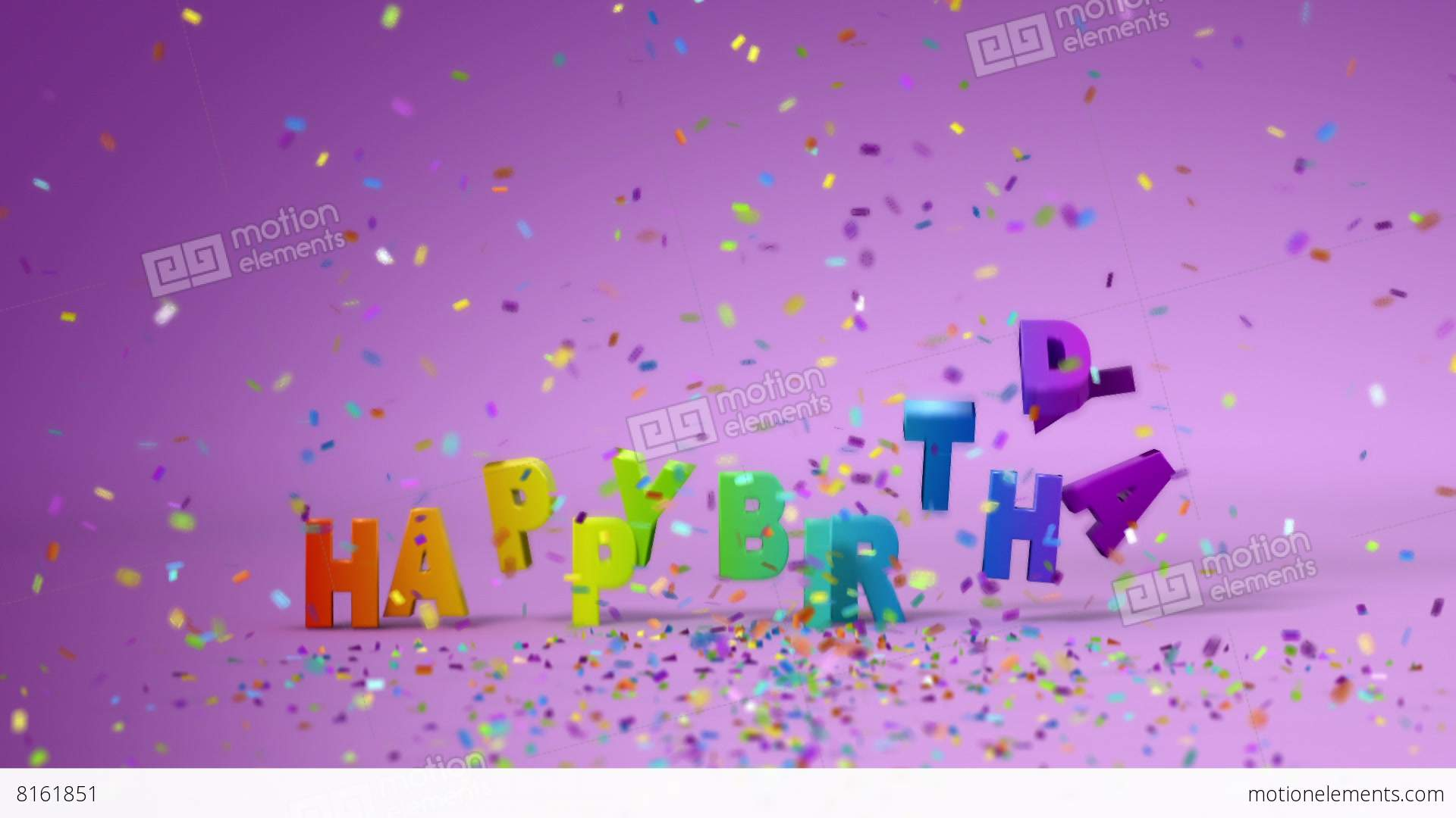 Happy Birthday, Funny 3d Animation Stock Animation