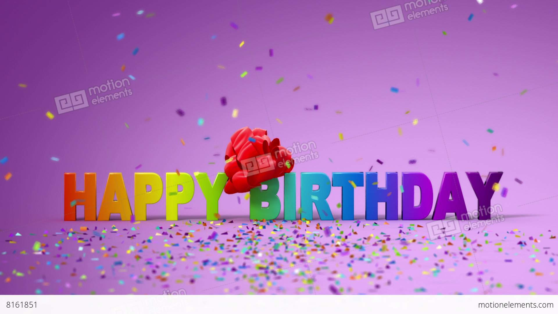 Happy Birthday Funny 3d Animation Video Hintergrund