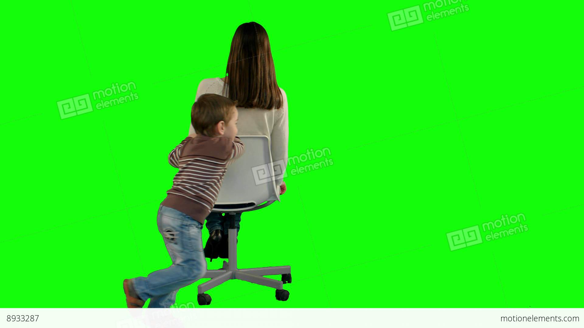 Lovely Portrait Of A Mother And Son On Green Screen Stock Footage