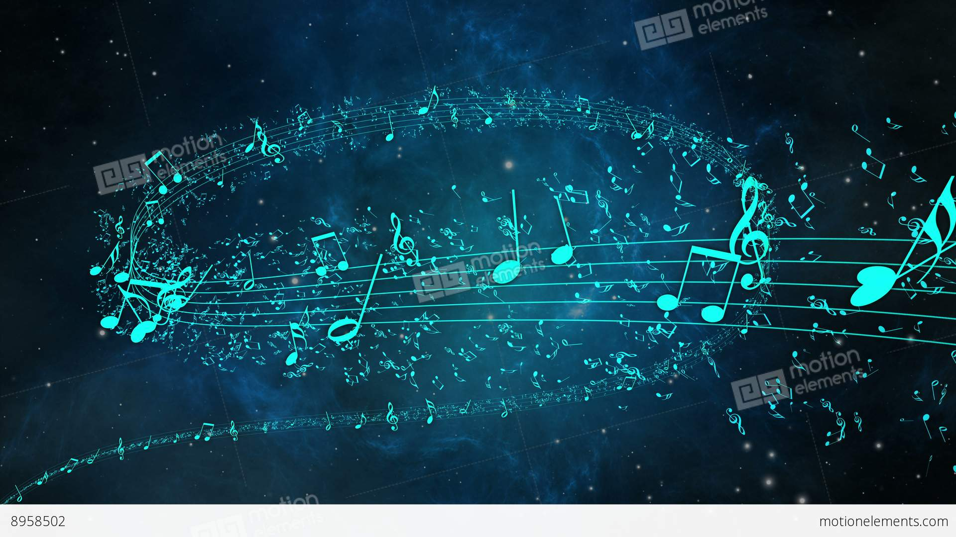Animated Background With Musical Notes Stock video footage ...