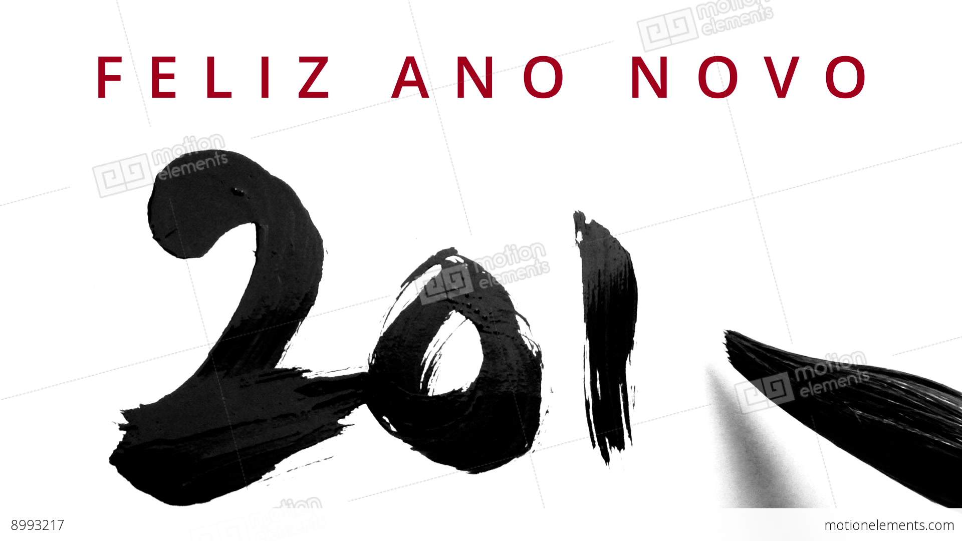 Happy new year 2016 in portuguese writing calligraphy with a brush happy new year 2016 in portuguese writing calligraphy stock video footage m4hsunfo