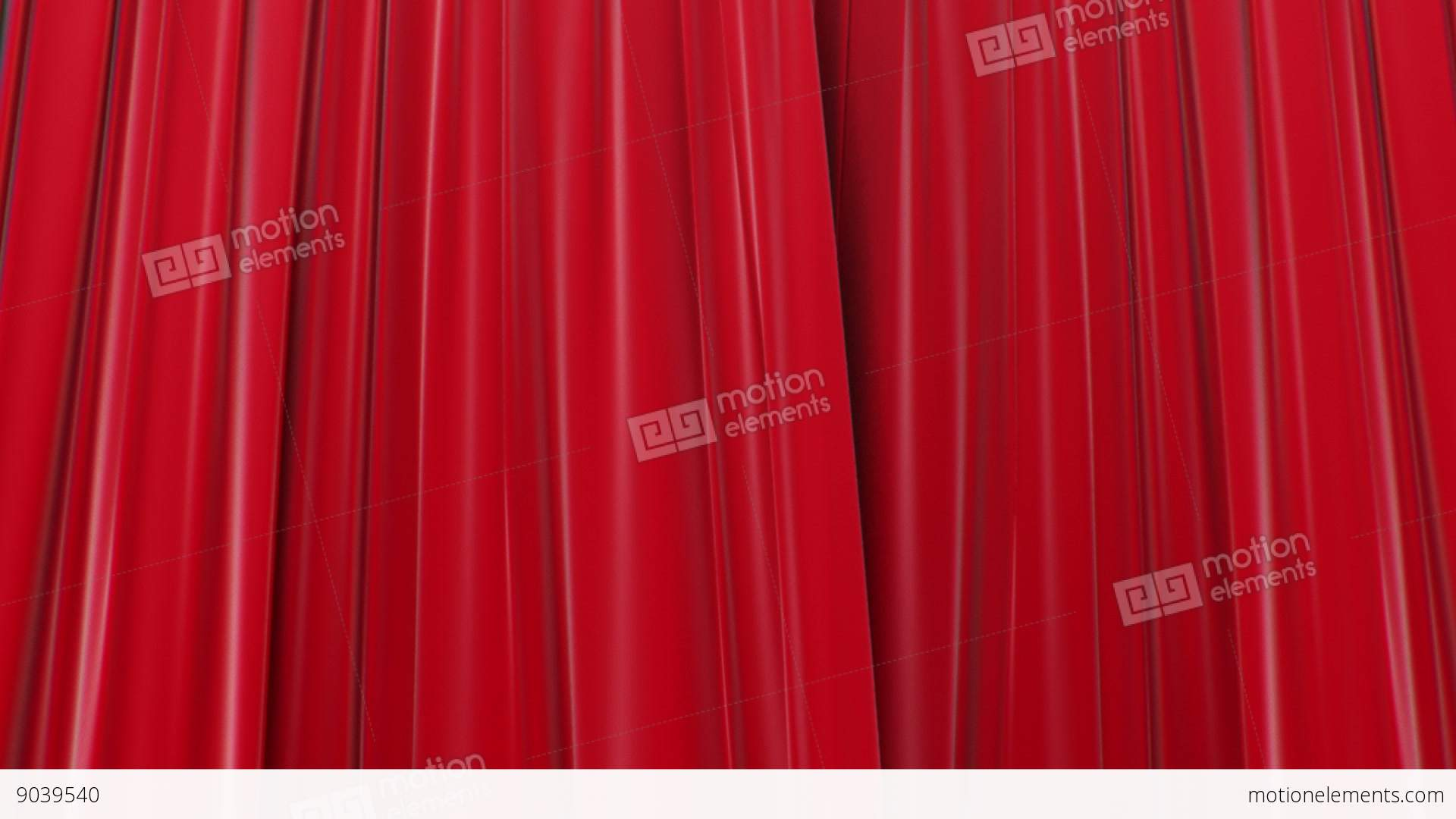 Zooming On Red Curtains Opening And Closing 3d Stock Video Footage
