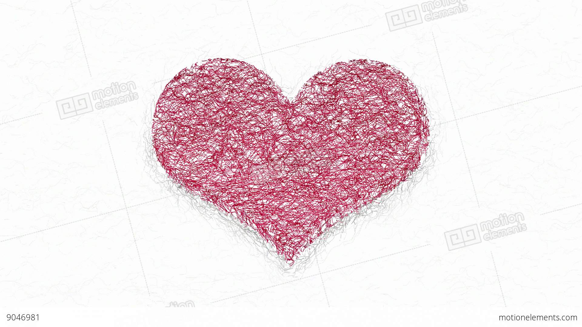 Red Heart Symbol Graphical Animation Stock Animation 9046981