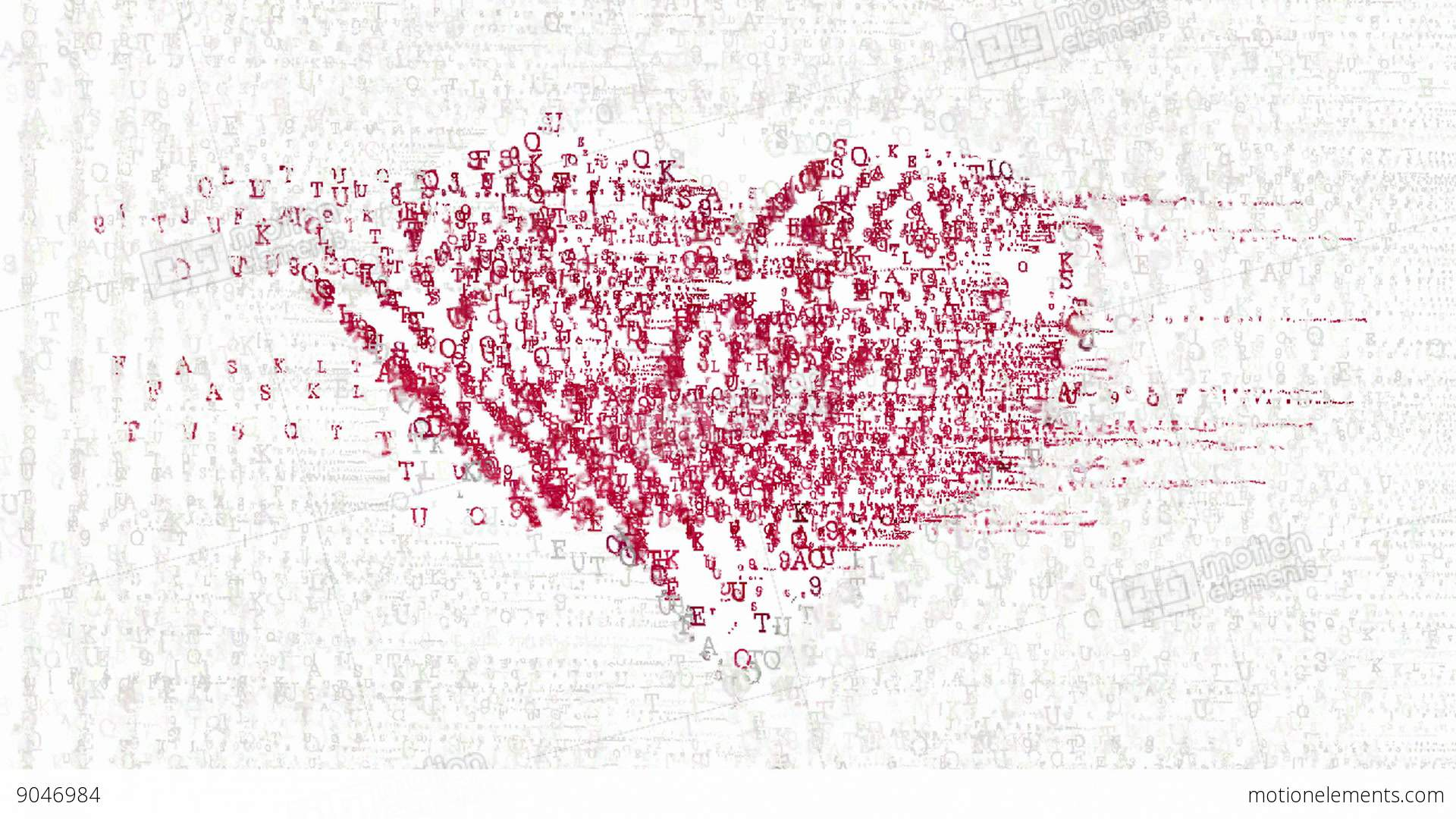 Heart symbol made by abstract animated letters stock animation heart symbol made by abstract animated letters stock video footage biocorpaavc Image collections