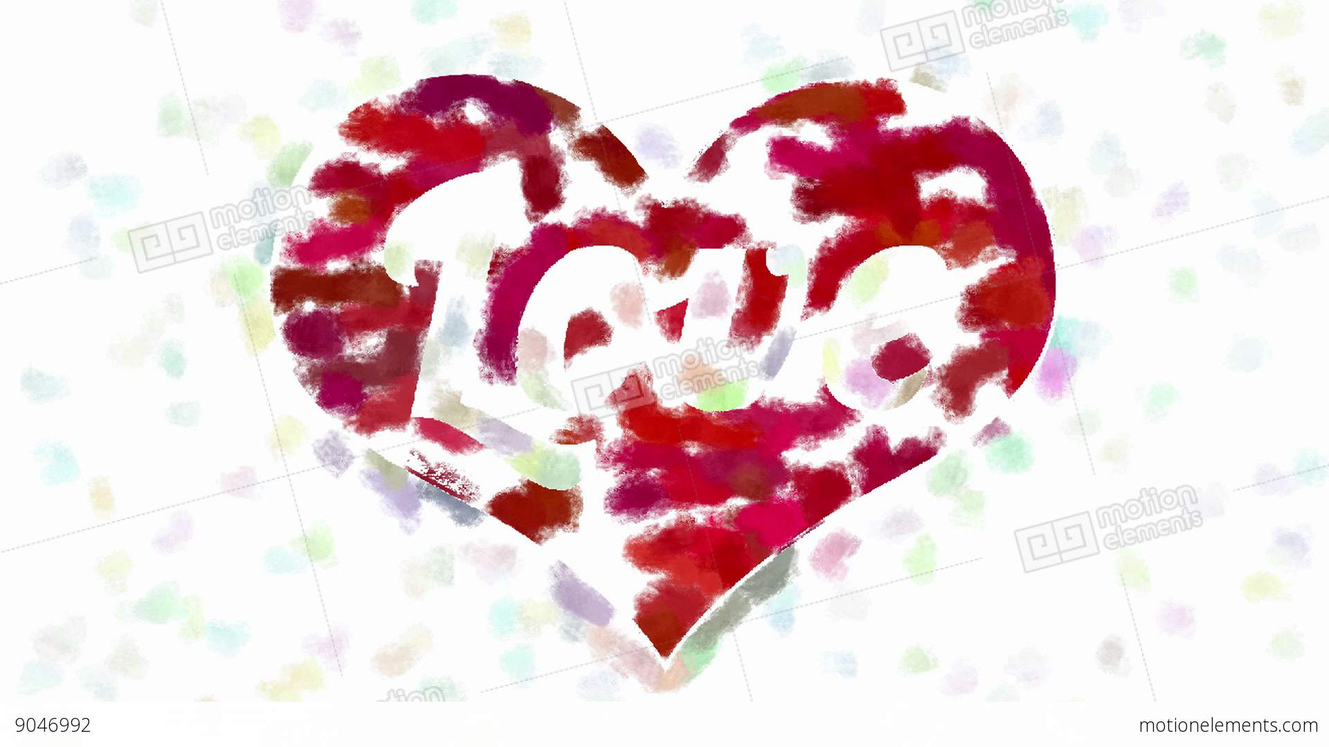 Word love in heart symbol abstract painting stock animation 9046992 word love in heart symbol abstract painting stock video footage biocorpaavc Image collections